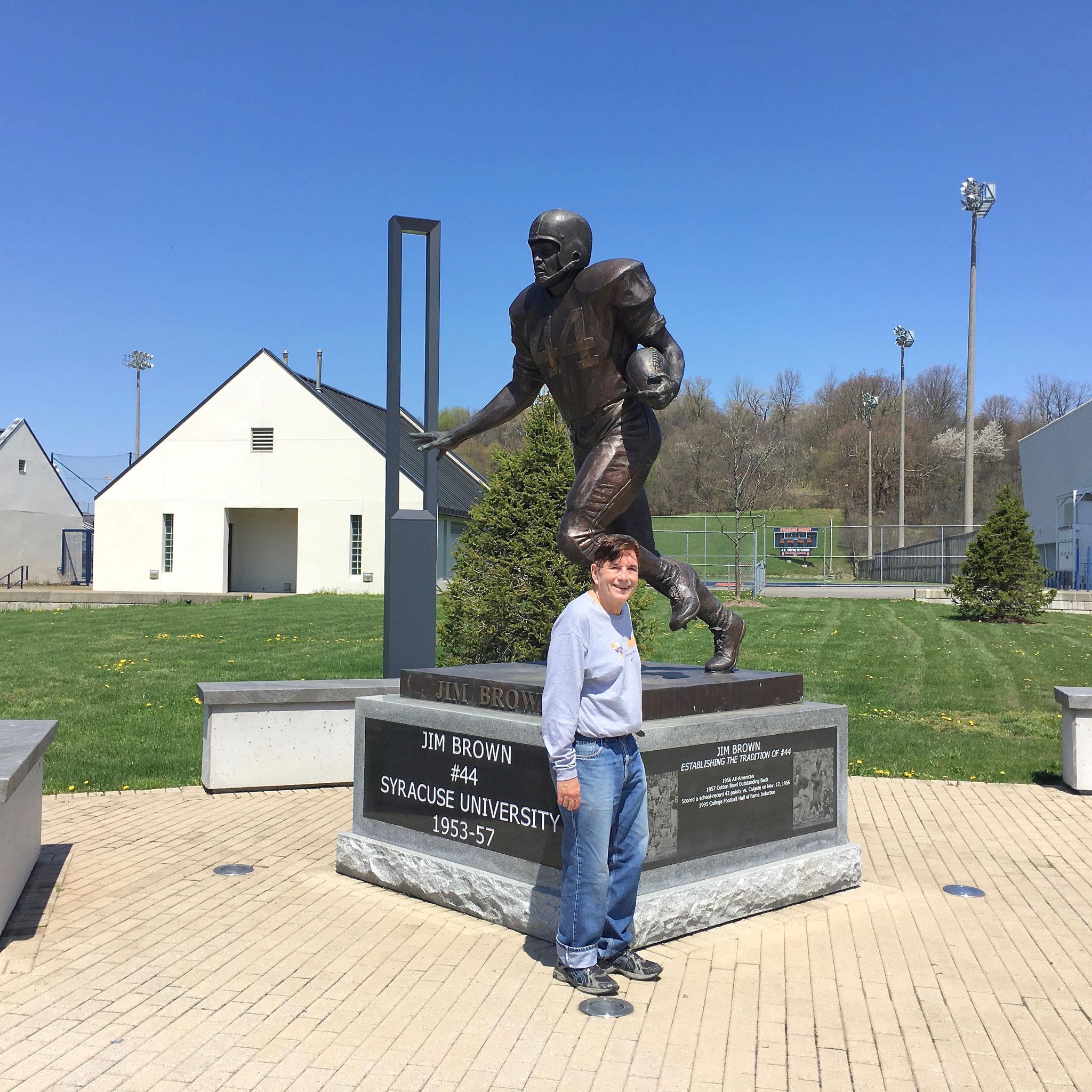 John with football great's at Syracuse Univ.  May, 2020