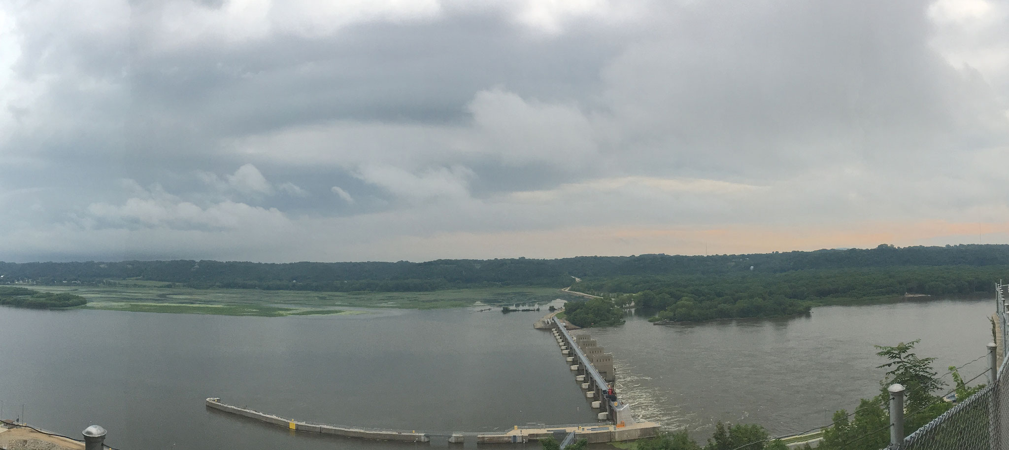 A view of the Mississippi from Eagle Point Park.