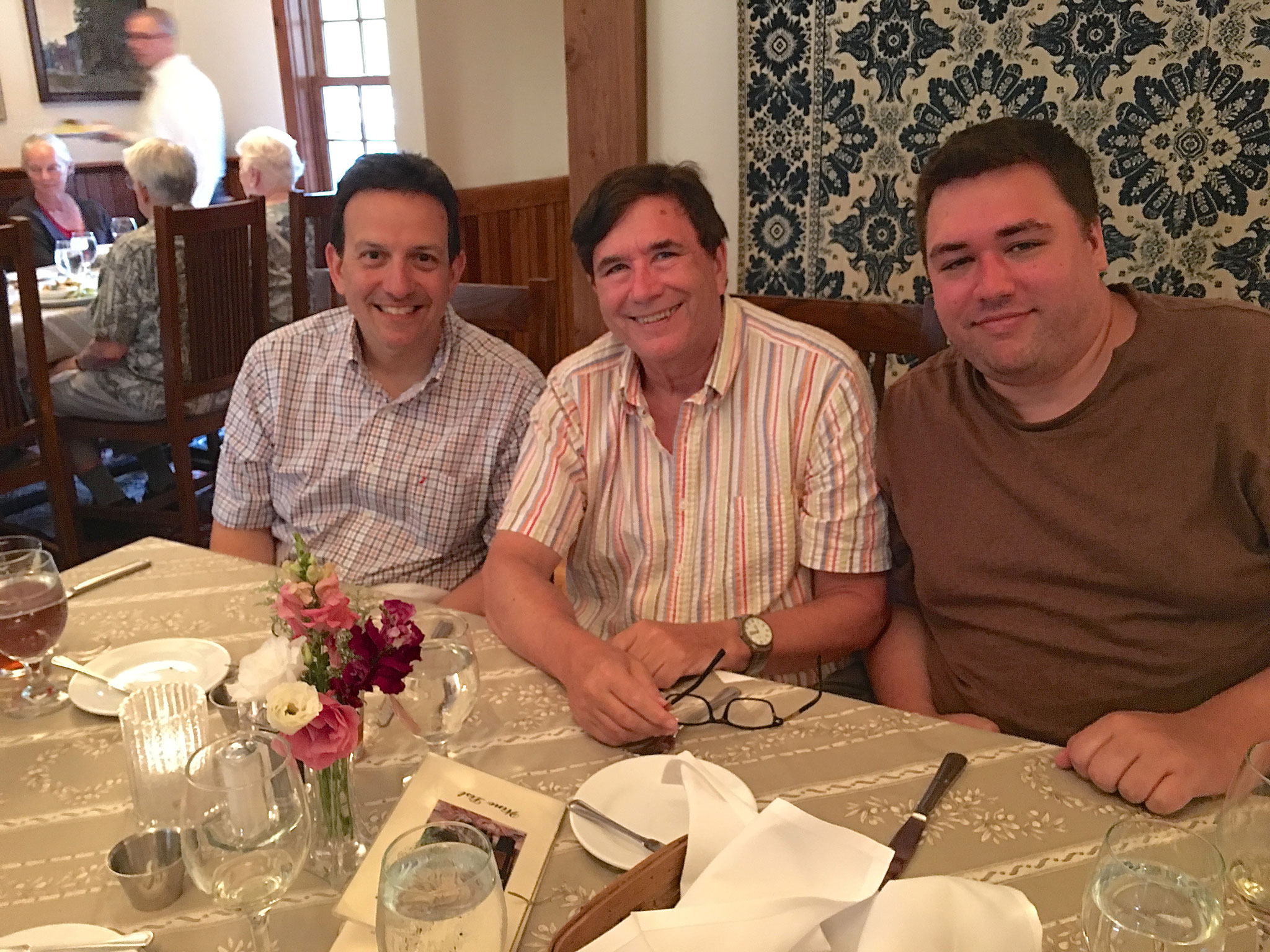 Nick Signorelli, John, Greg, Elderberry Pond Restaurant, Auburn