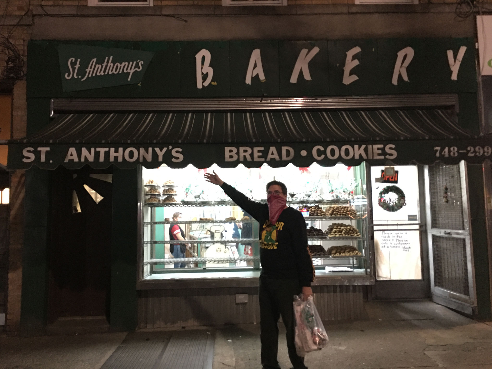 The Bandit 28, in front of St. Anthony's Bakery in Dyker Heights, Brooklyn, NY