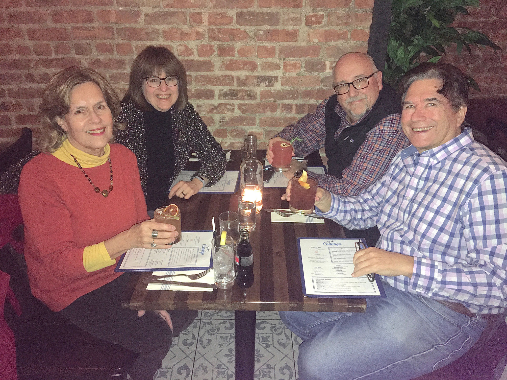 Lorraine Gudas, Sandra, Steve, & John at a Mexican Rest. NYC 11/24/19