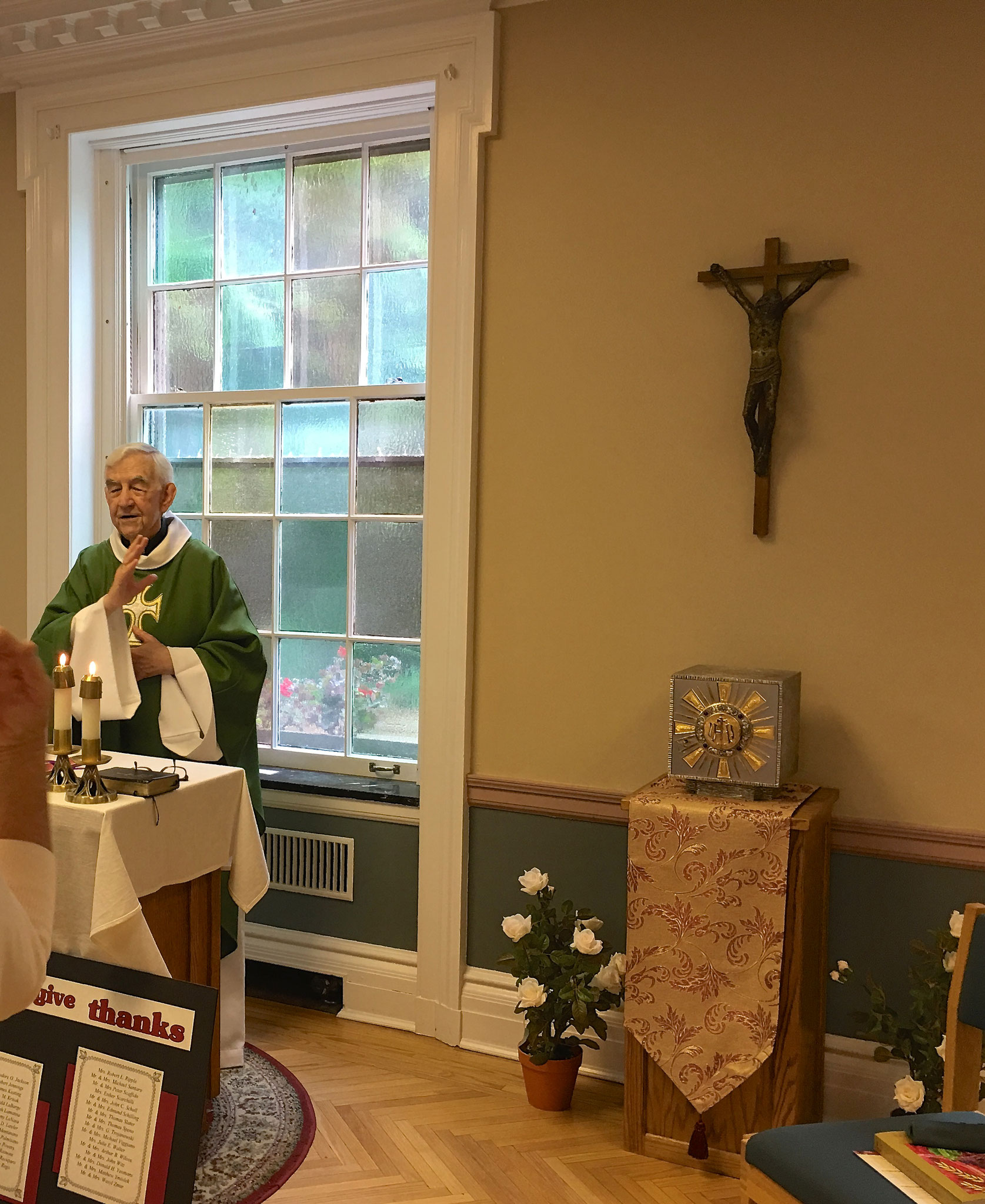 Father Flynn at the mass