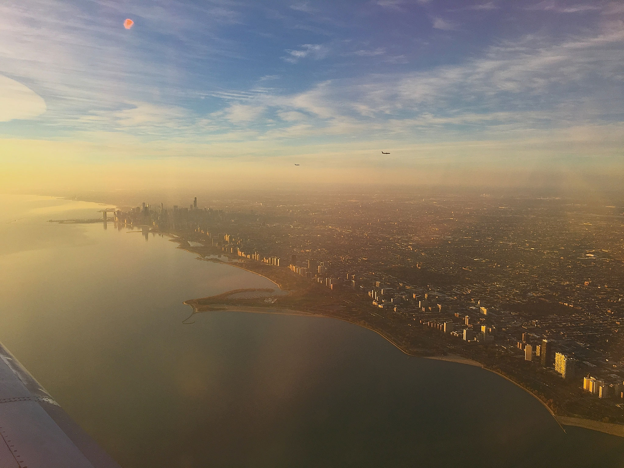 Chicago from the air, 11-27-17