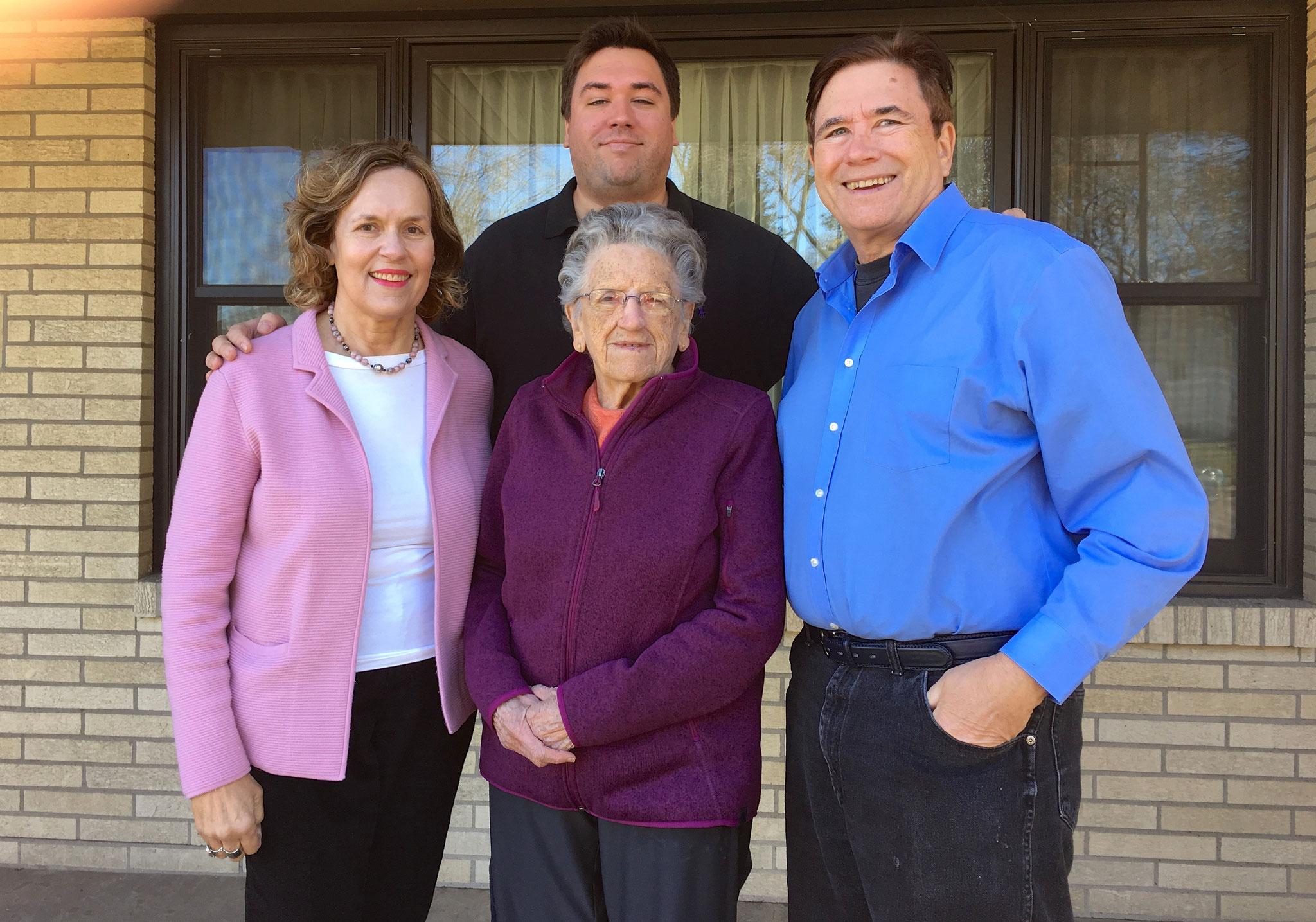 Lorraine Gudas, & Mary Lou, Greg, & John Wagner