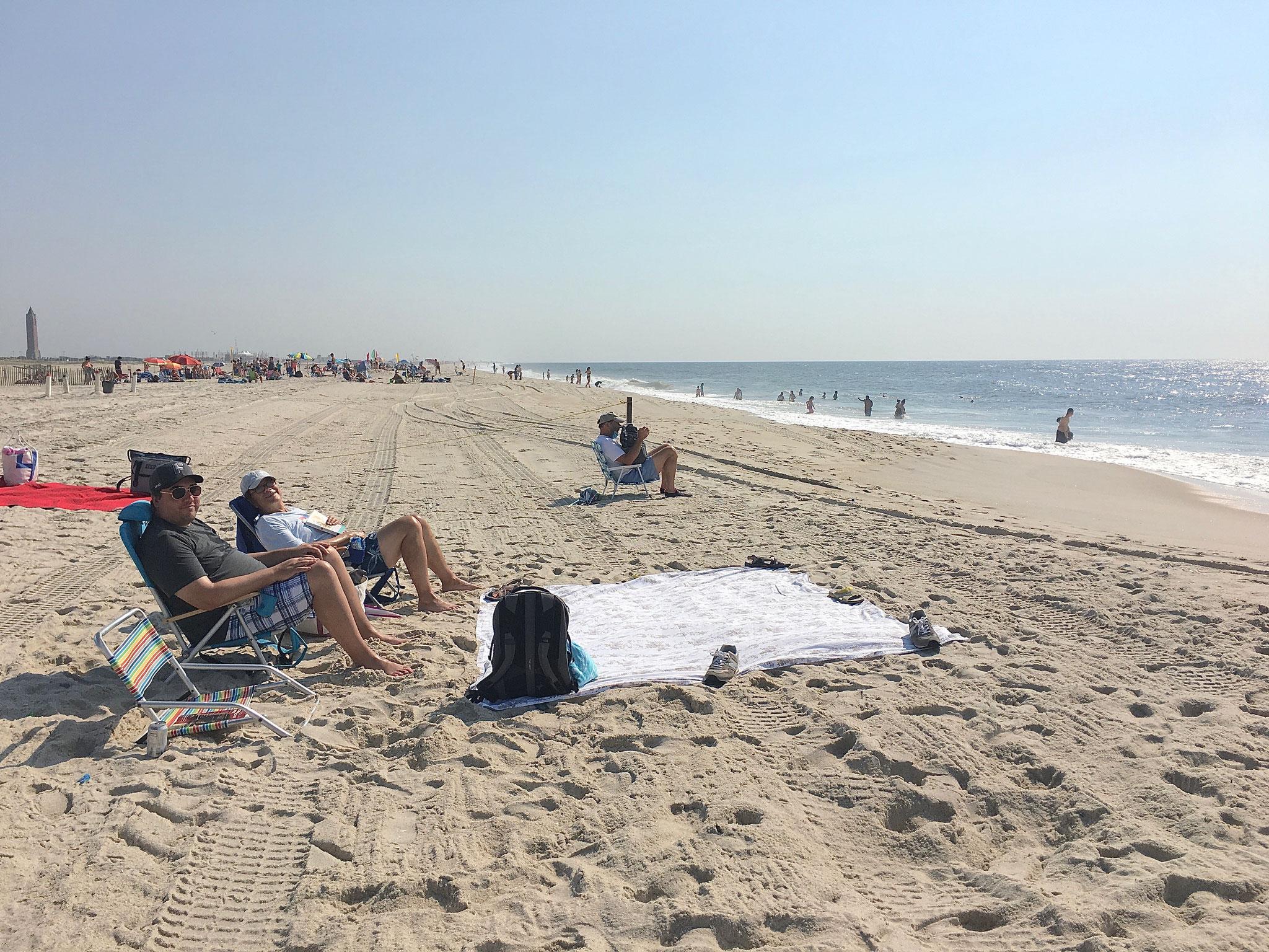 Greg & John at Jones Beach, 8-2020