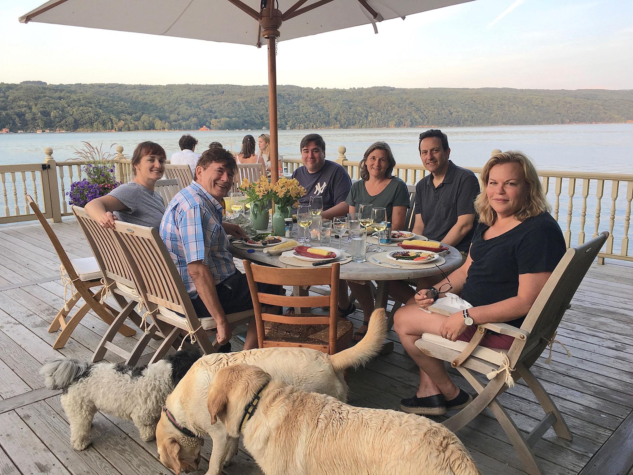 Skaneateles Lake, 2019 Wendy, John, Greg, Cyndi, Nick, Celeste