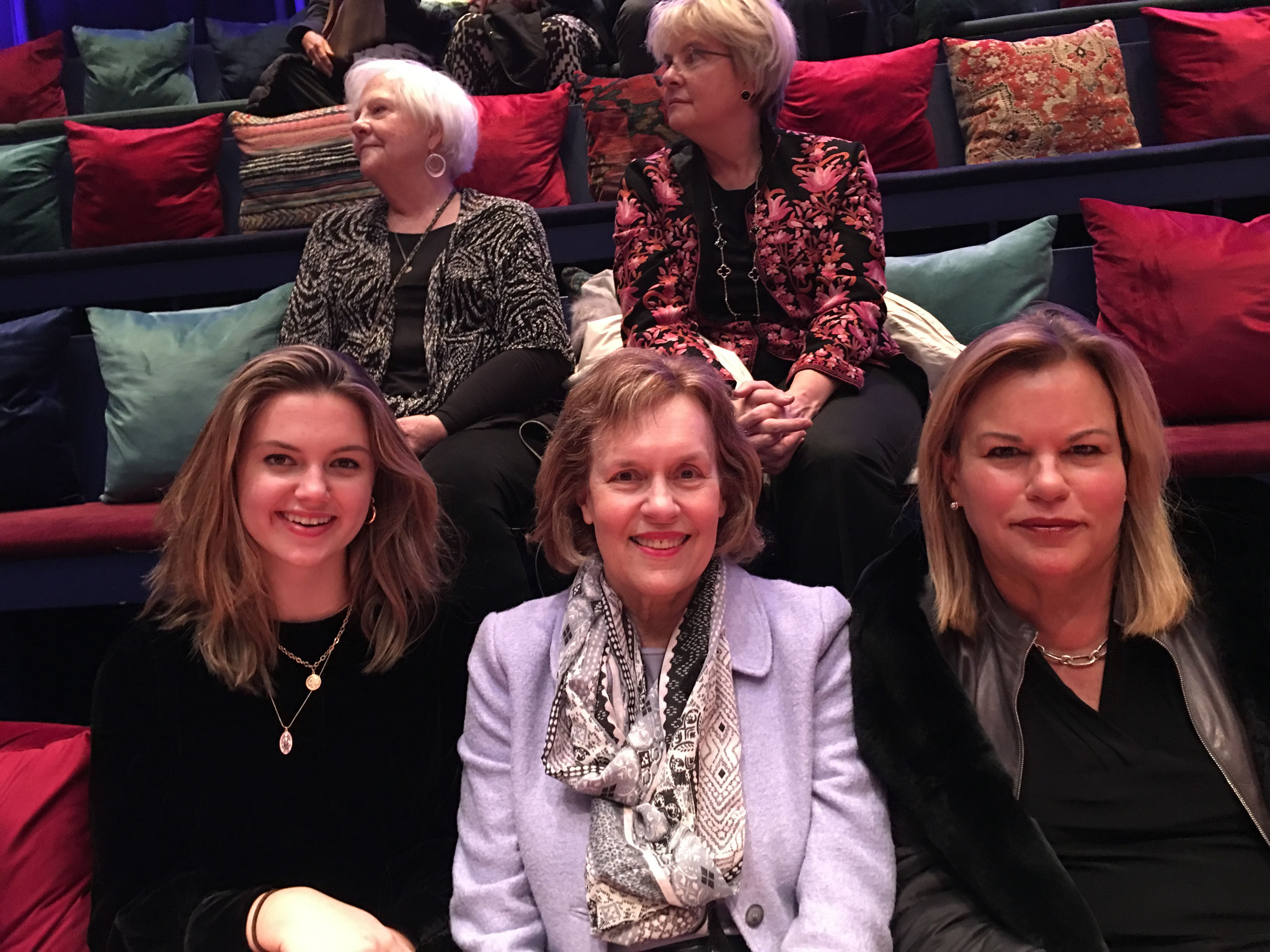Kate, Lorraine, & Celeste at a play about Gloria Steinem in NYC