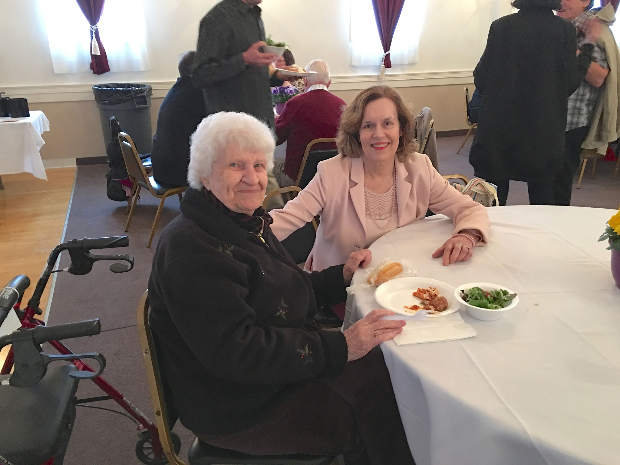 Detta & Lorraine at the luncheon after the funeral