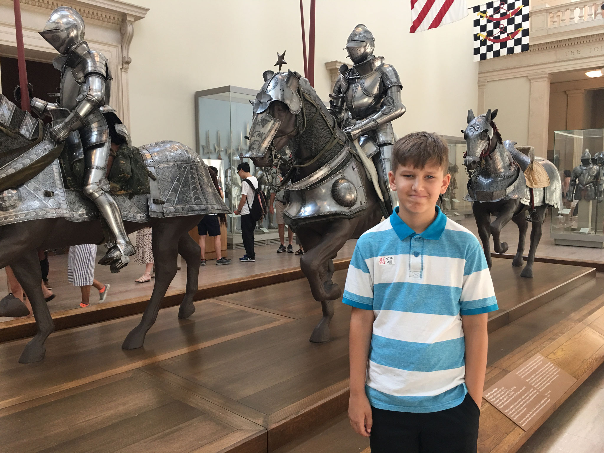 Braden at the museum