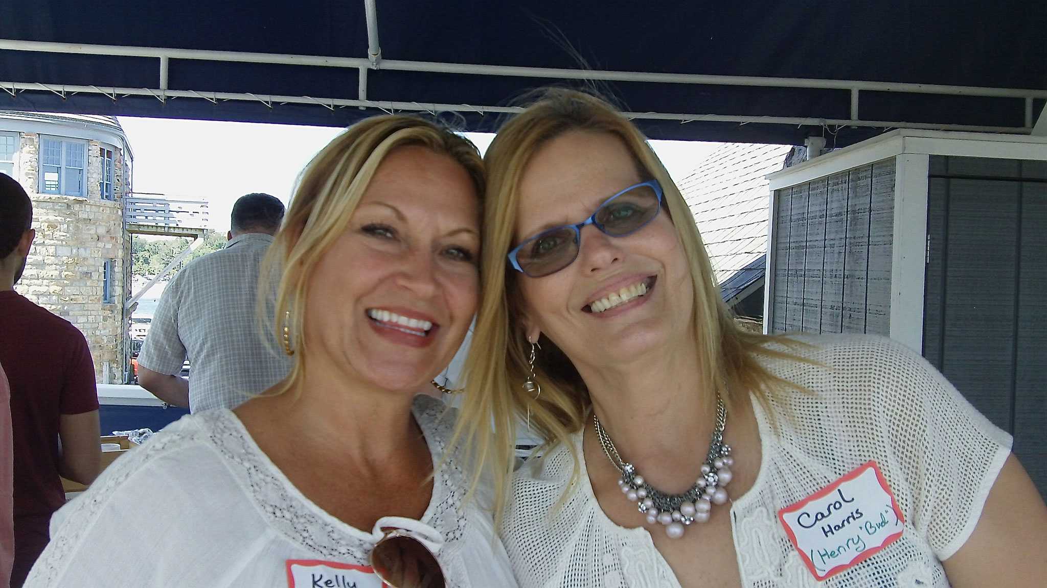 Kelly Varatta (Paula's daughter, Frank's granddaughter) & Carol Harris (Bud's daughter)