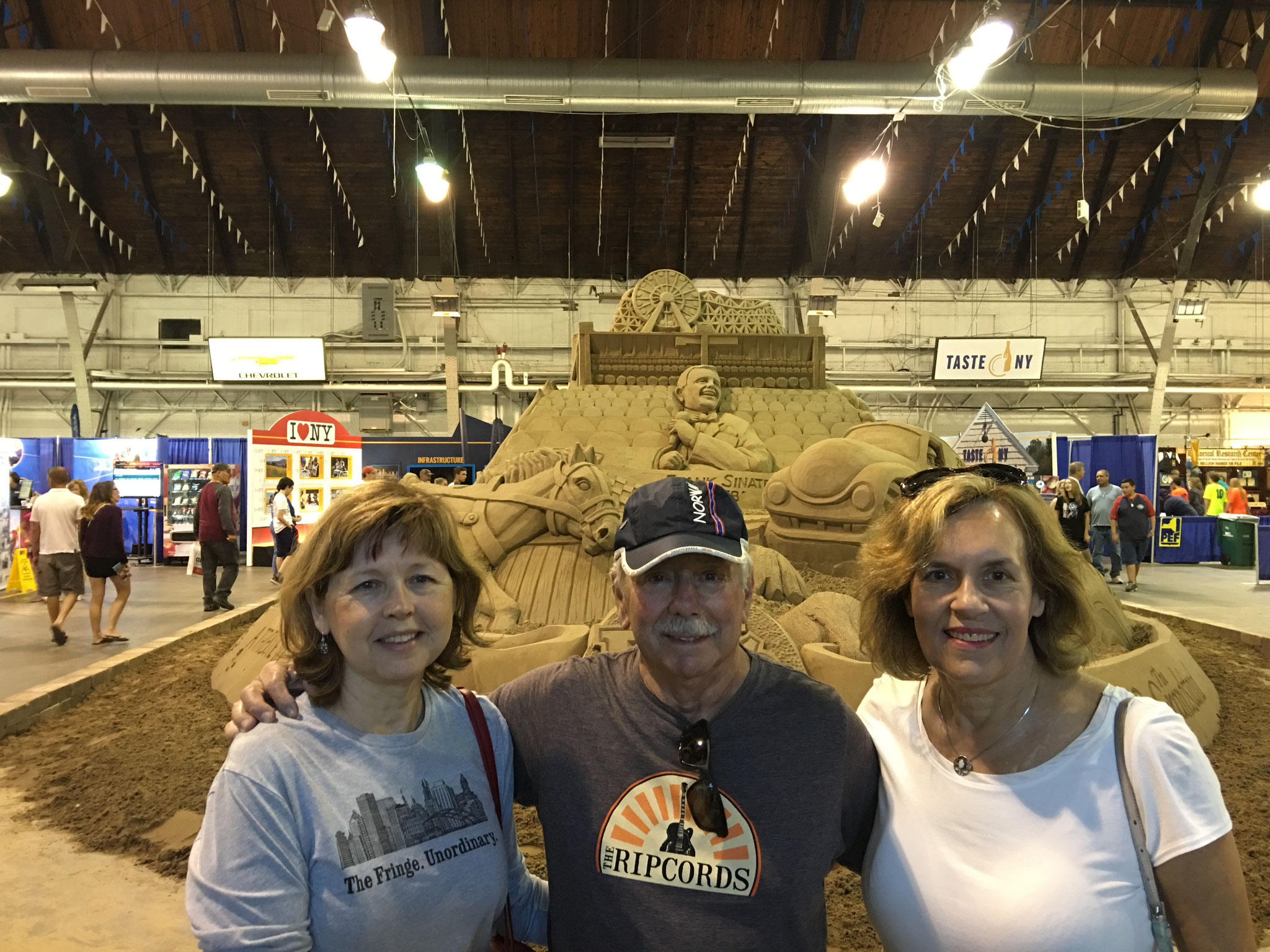 Barbara, Don & Lorraine at the Sand Sculpture, NY State Fair, Sept. 3, 2016 Syracuse, NY!
