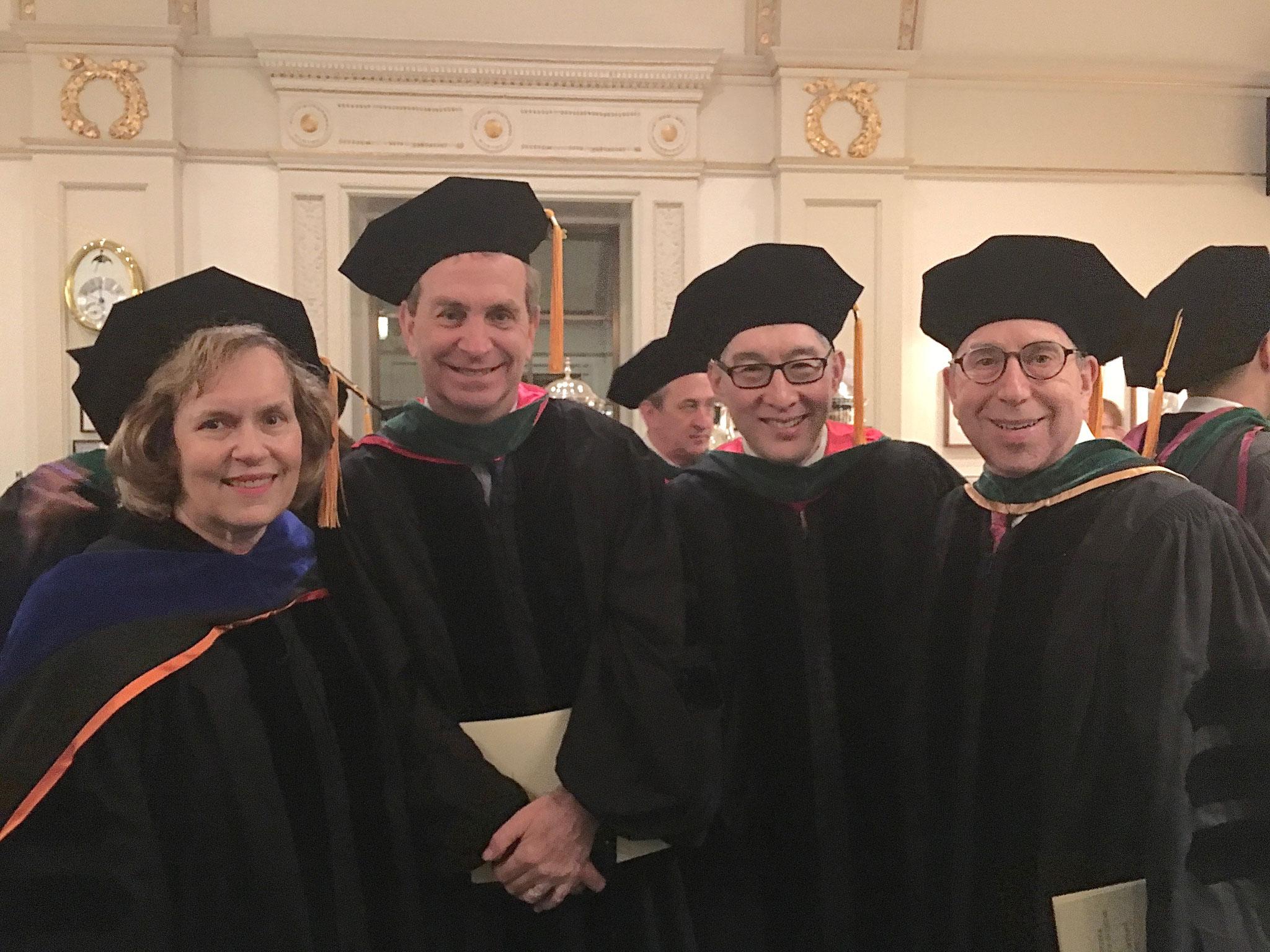 WCM Graduation, Carnegie Hall, 2019  Lorraine, Tony Hollenberg,  Francis Lee, Rich Granstein