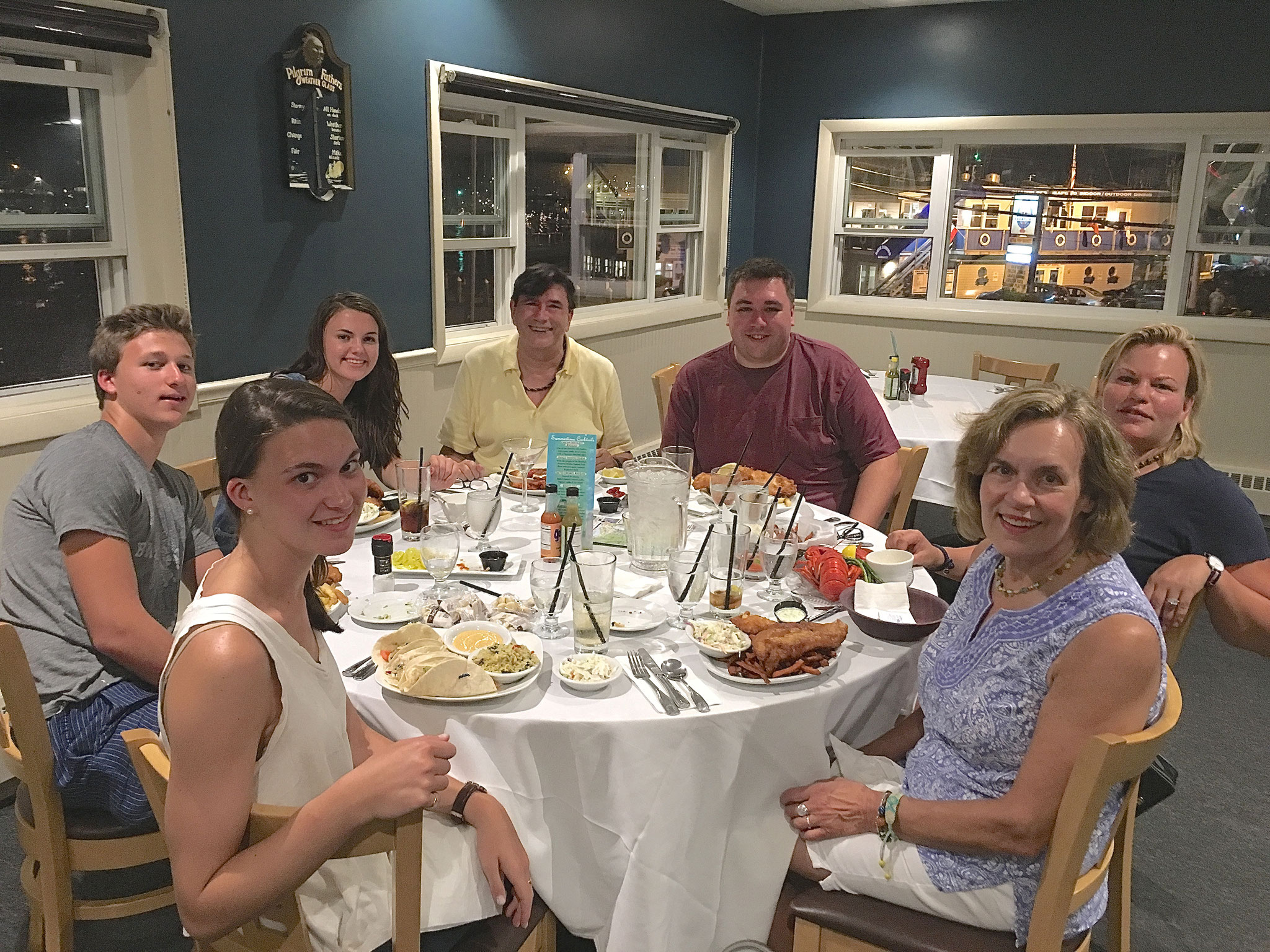 Ellie, Jack, Kate, John, Greg, Celeste, & Lorraine   George's, Galilee, RI Aug. 27, 2016