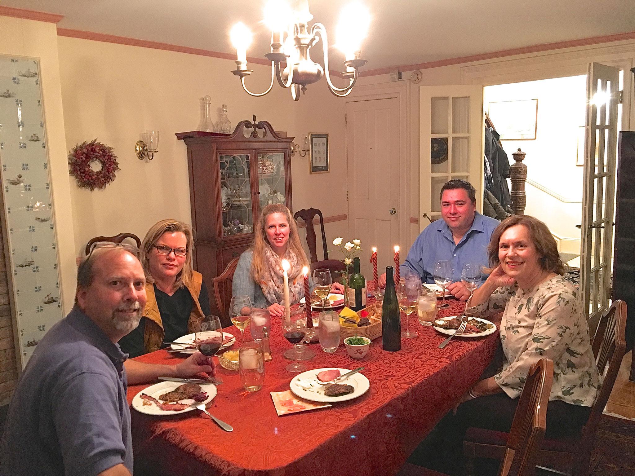Jerry Sroka, Celeste, Lisa Sroka, Greg Wagner, Lorraine Gudas, Nov. 2016 NYC