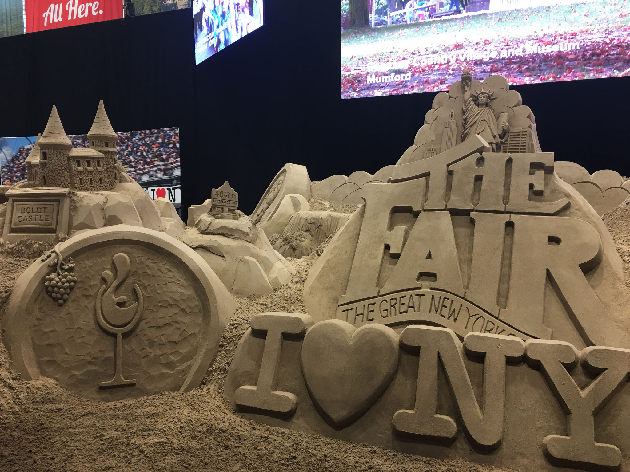 the Sand Sculpture