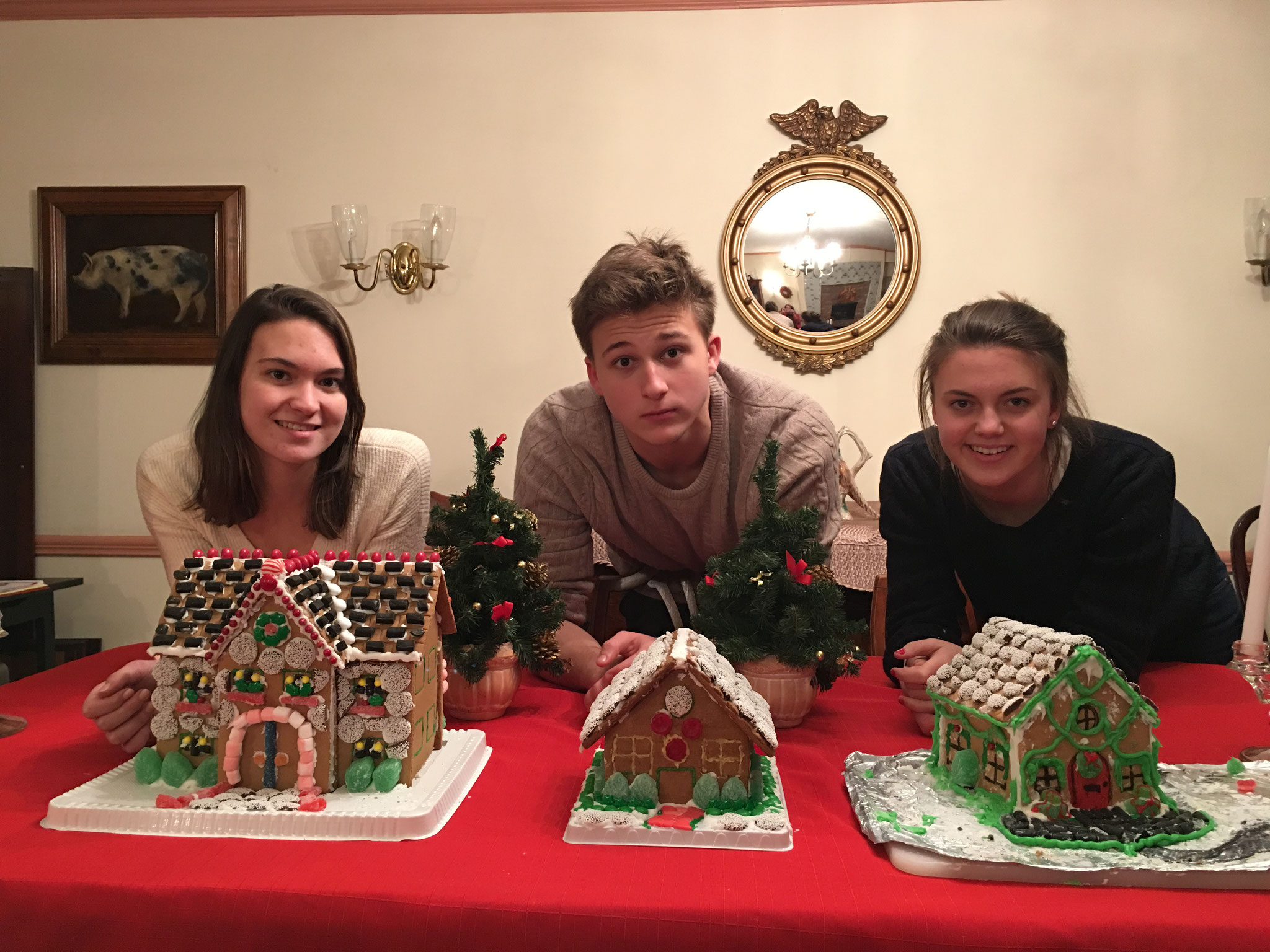 Ellie, Jack and Kate with their gingerbread creations!