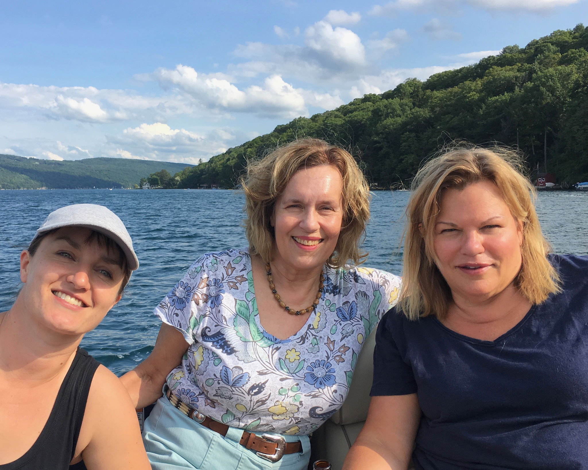 Wendy, Lorraine, & Celeste, July, 2018 Skaneateles Lake