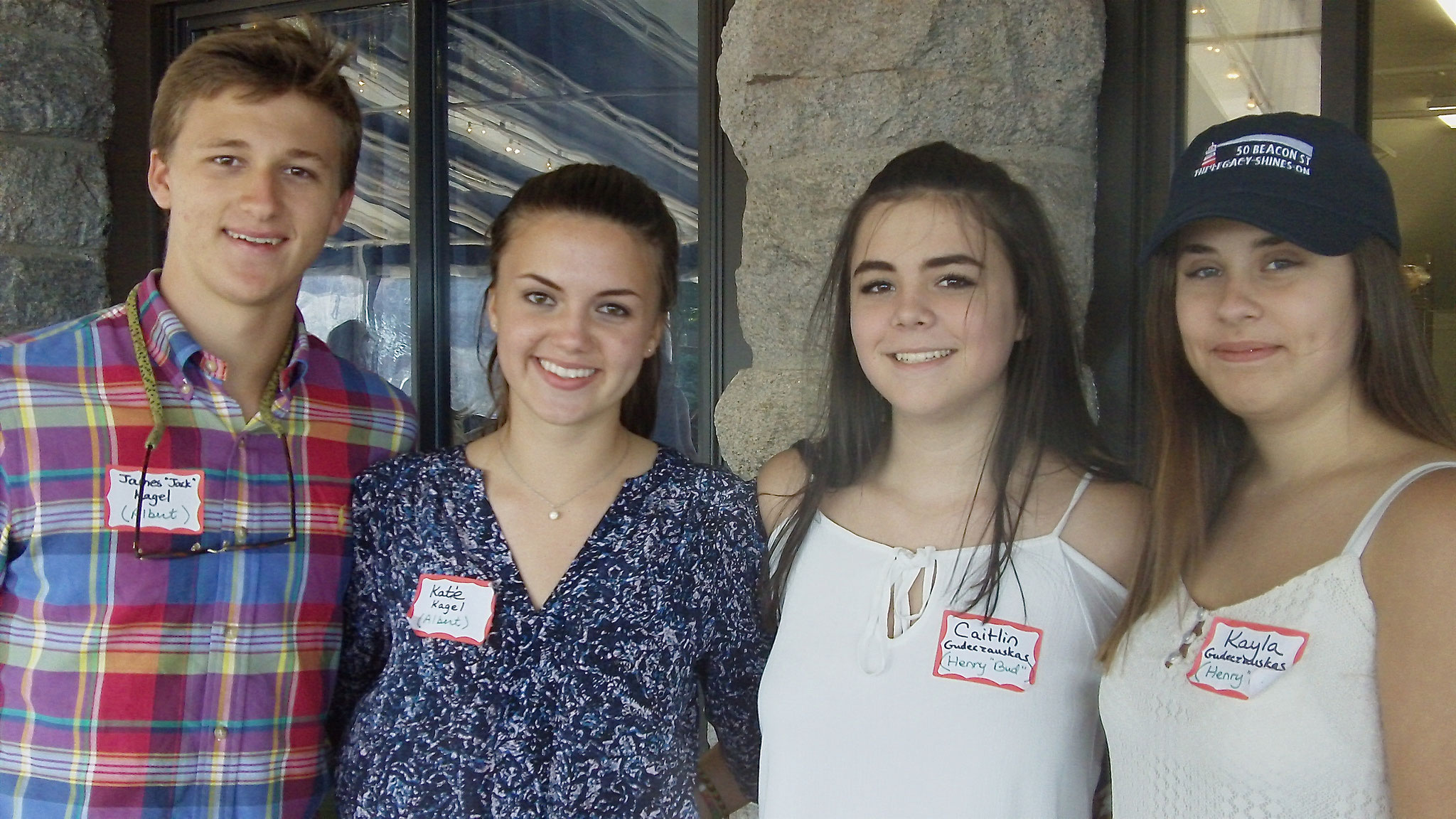 Jack & Kate (twins of Celeste, 15 yrs old) & Caitlin & Kayla (twins of Jim & Lynn, 15 yrs old)