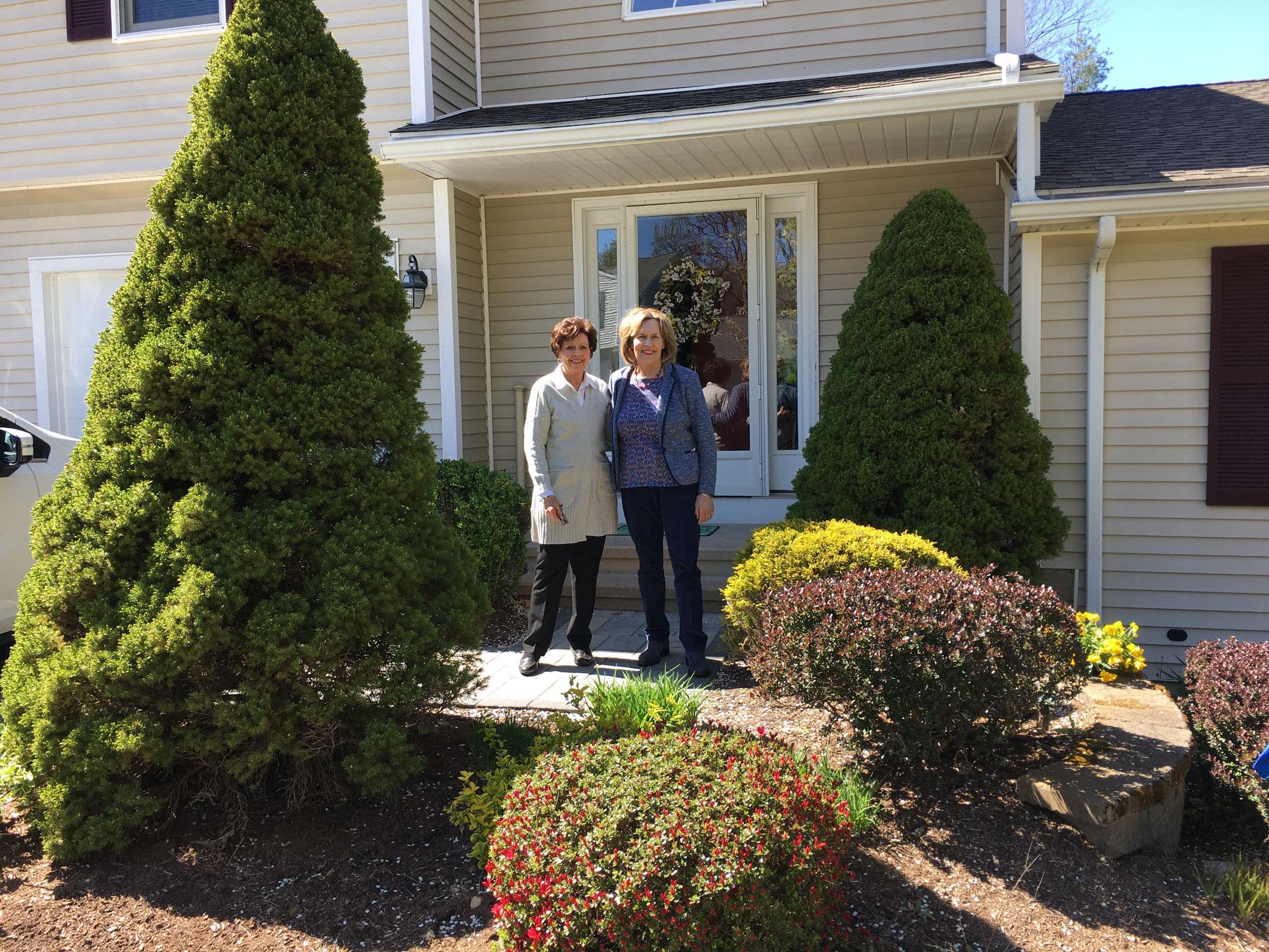 Kathy Gudas Longo & Lorraine at Kathy's new home 5-1-2021