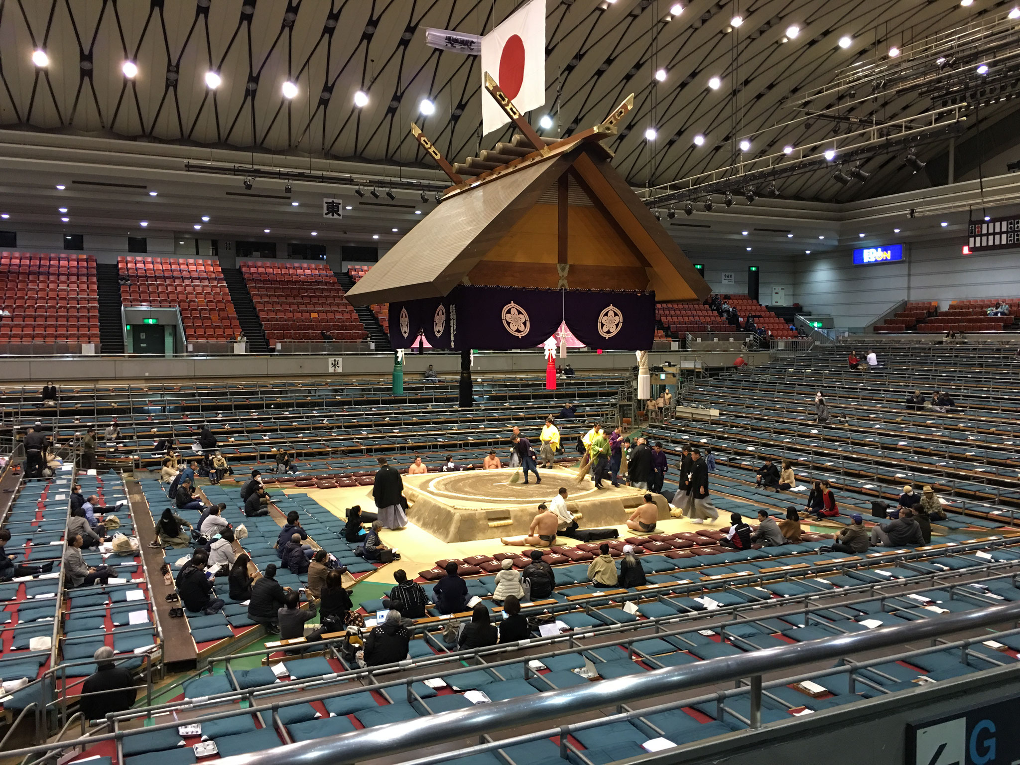 Sumo wrestling, Grand Sumo Tournament, Osaka, Japan