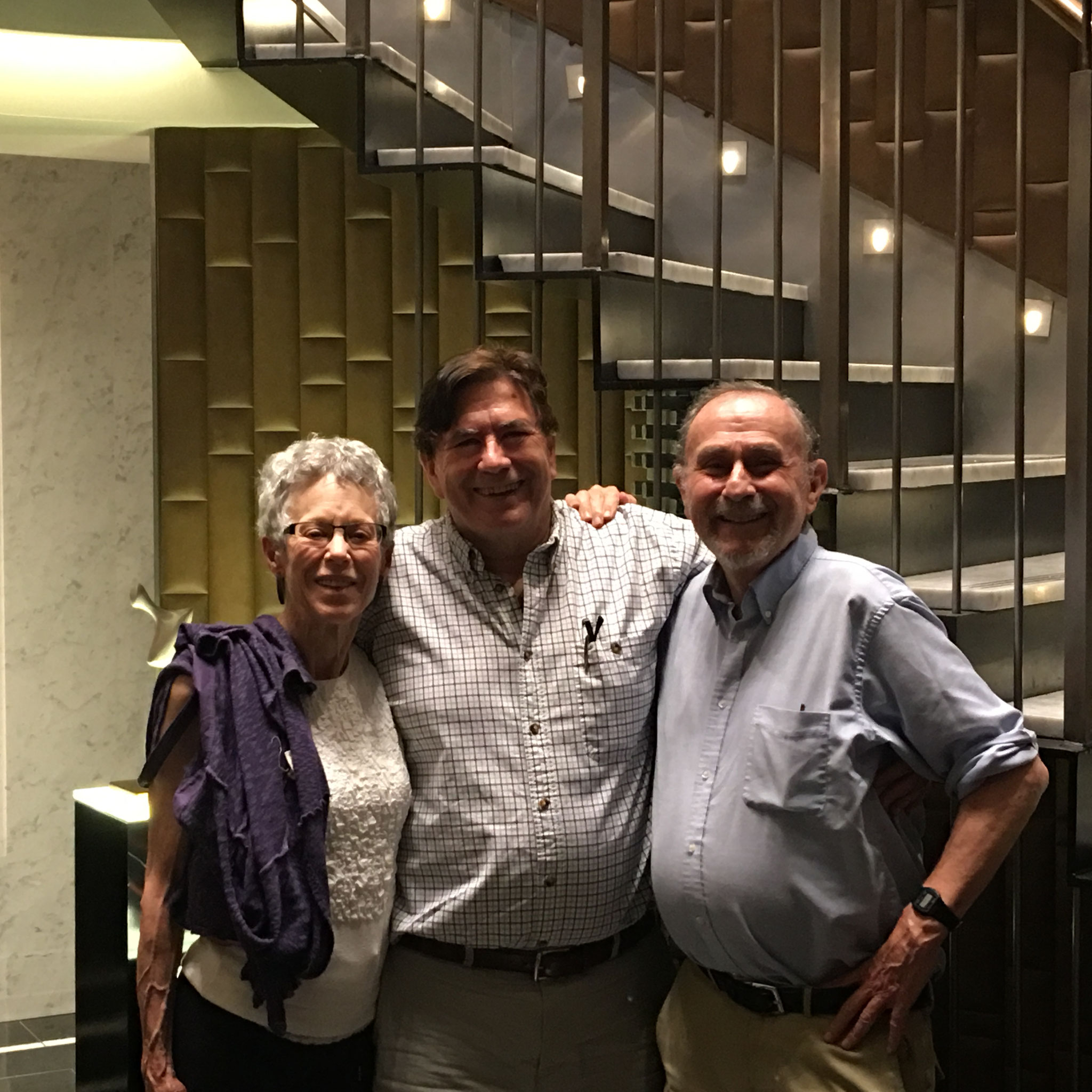 Barbara, John Wagner, Warren Levinson, May 26, 2016 Reunion in NYC!