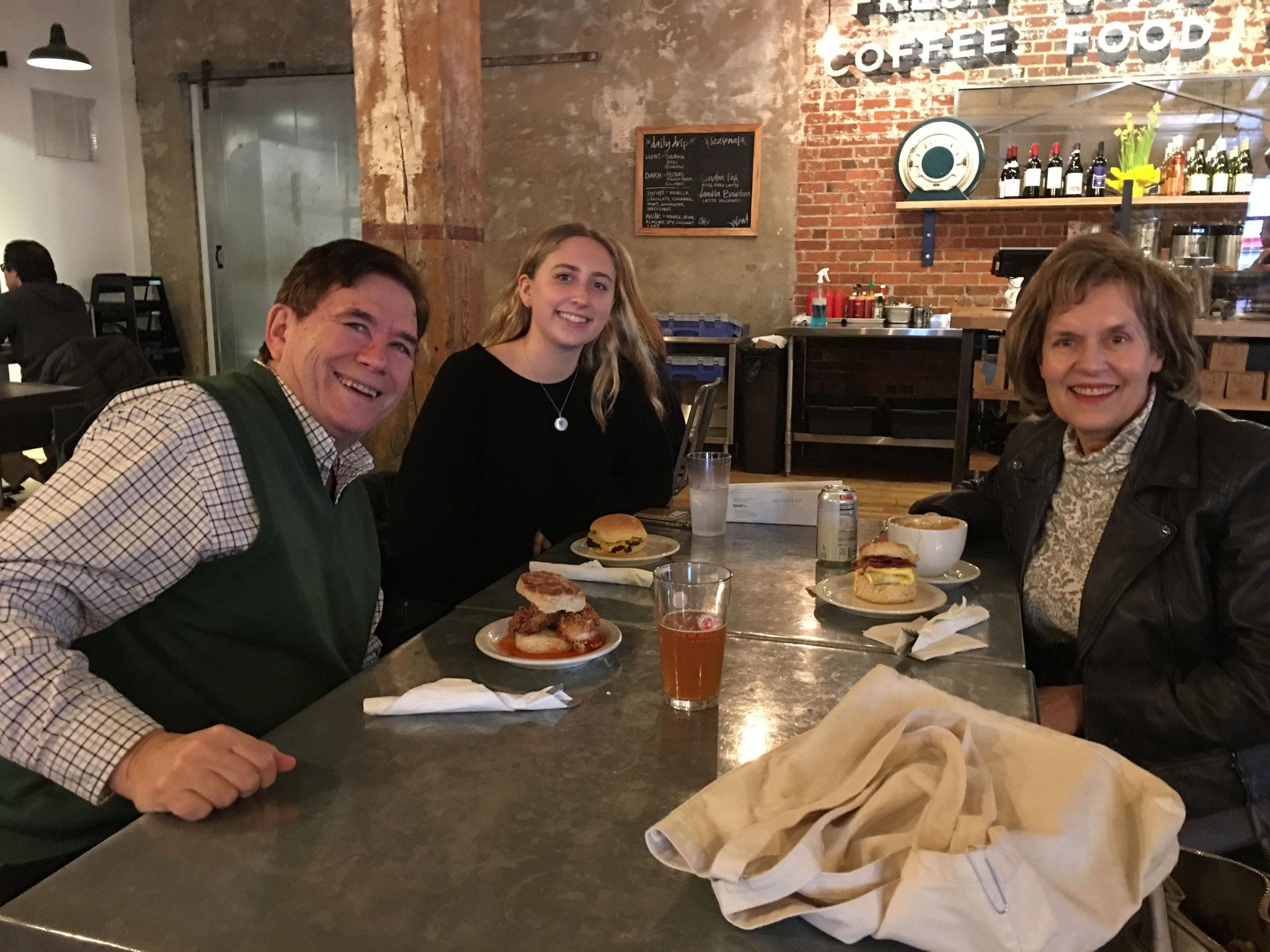John, Emma, & Lorraine, Wake Forest Univ. Feb. 2019