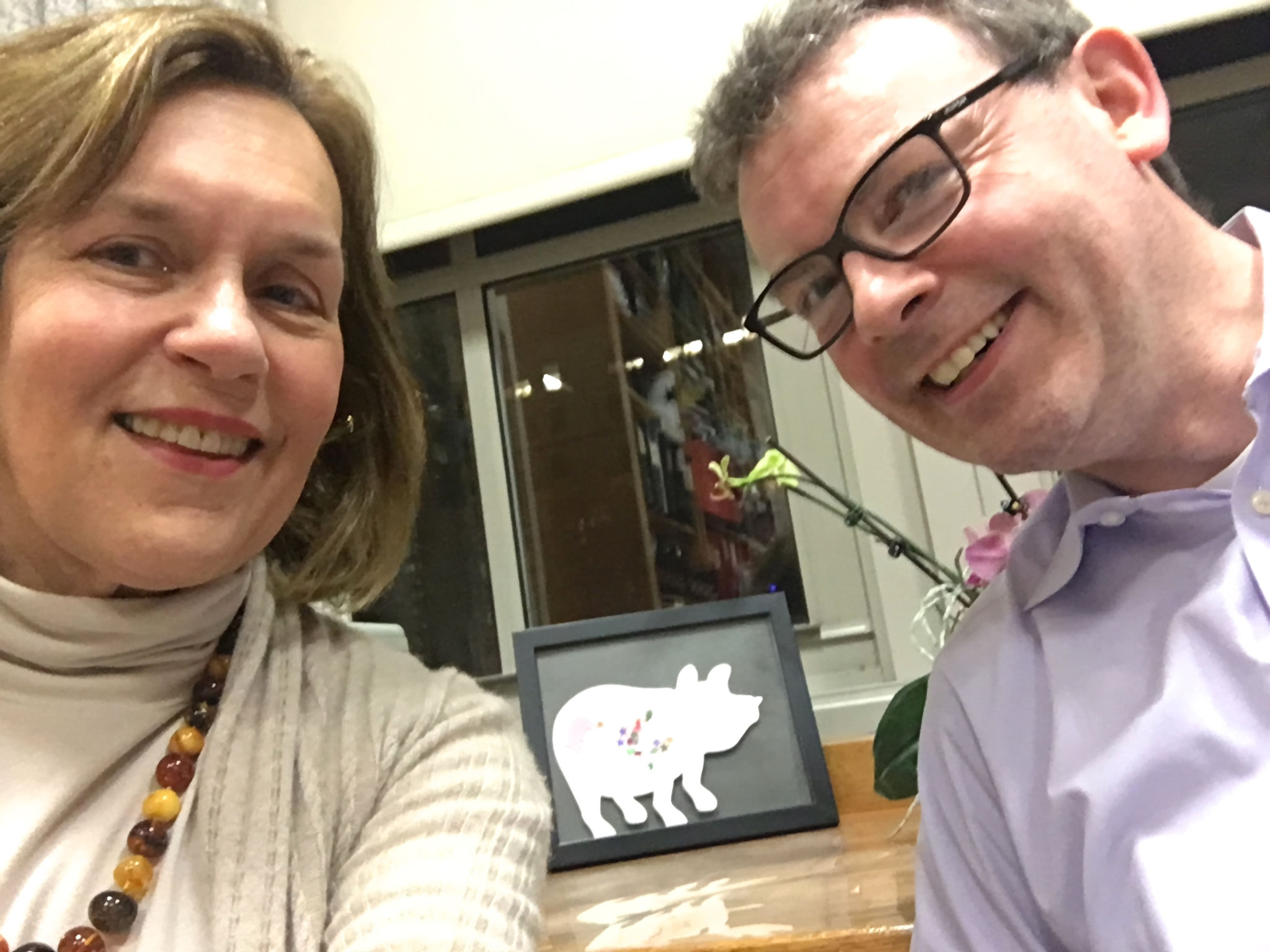 Lorraine & Nigel, selfie, Jan. 2017