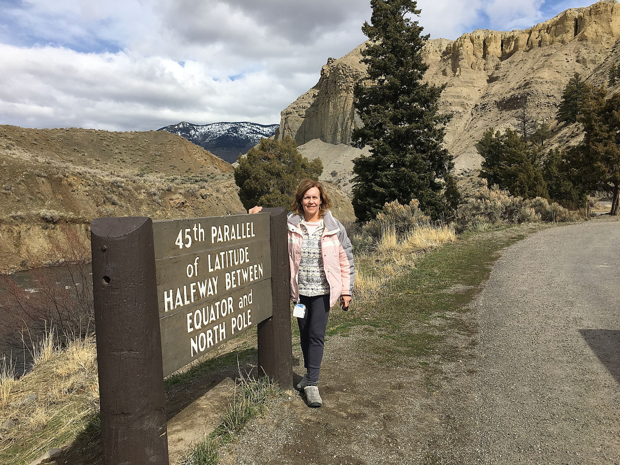 Lorraine in Yellowstone Park, March 2017