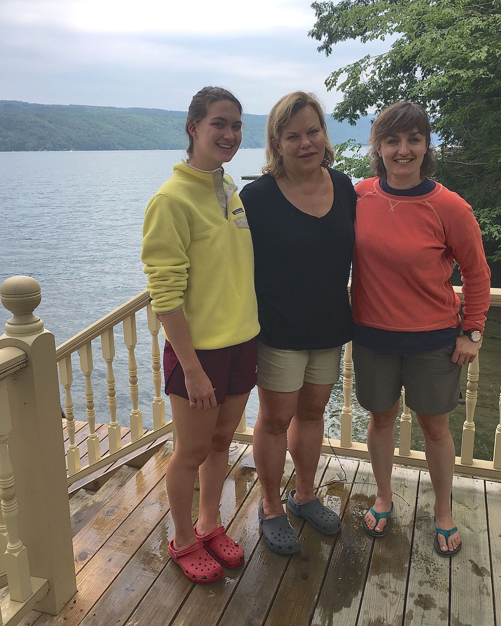 Ellie K., Celeste, & Wendy (Barner), Susan's daughter, at Skaneateles Lake, 7-2017