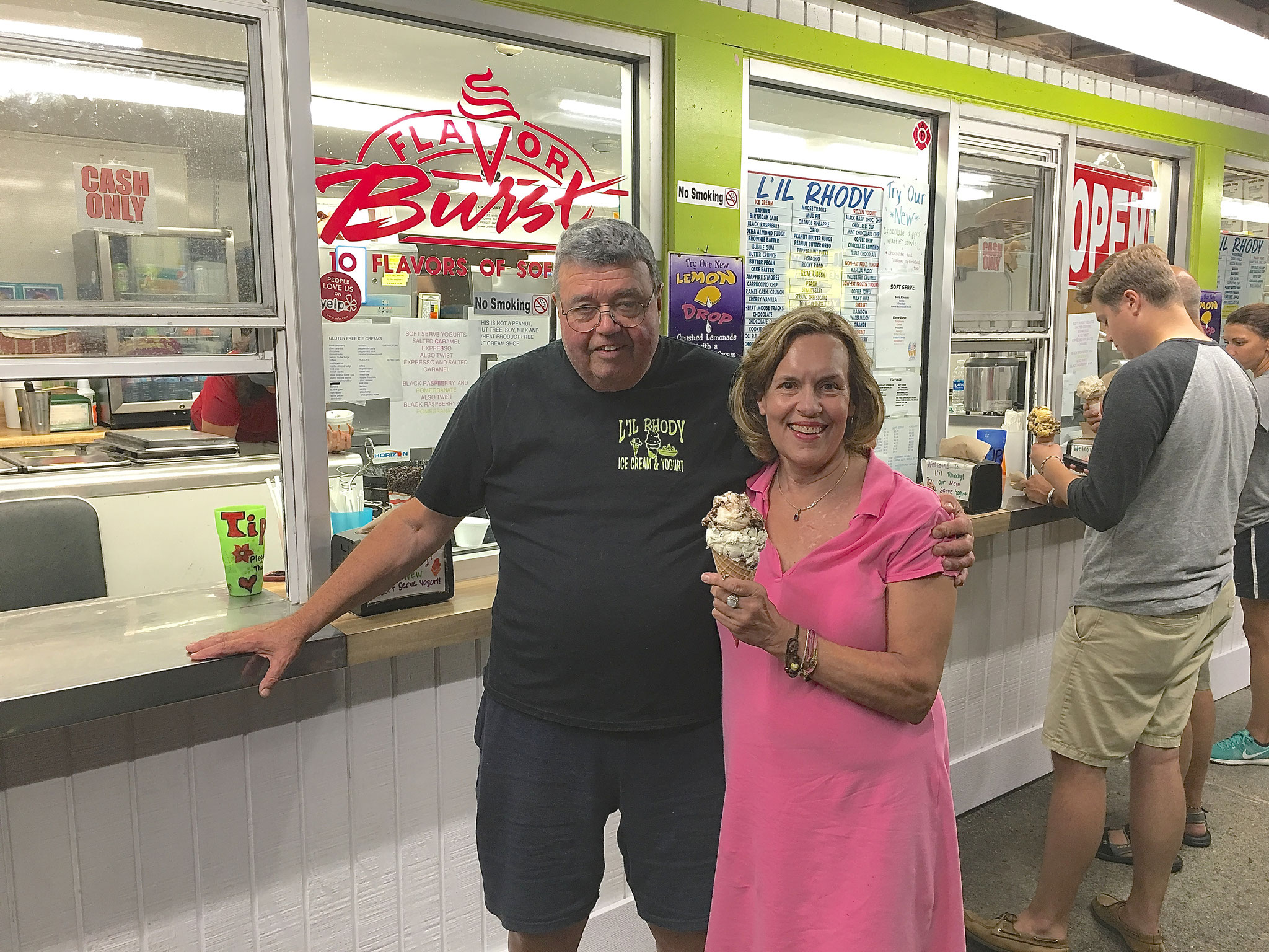Bill & first cousin Lorraine...Yummy ice cream..