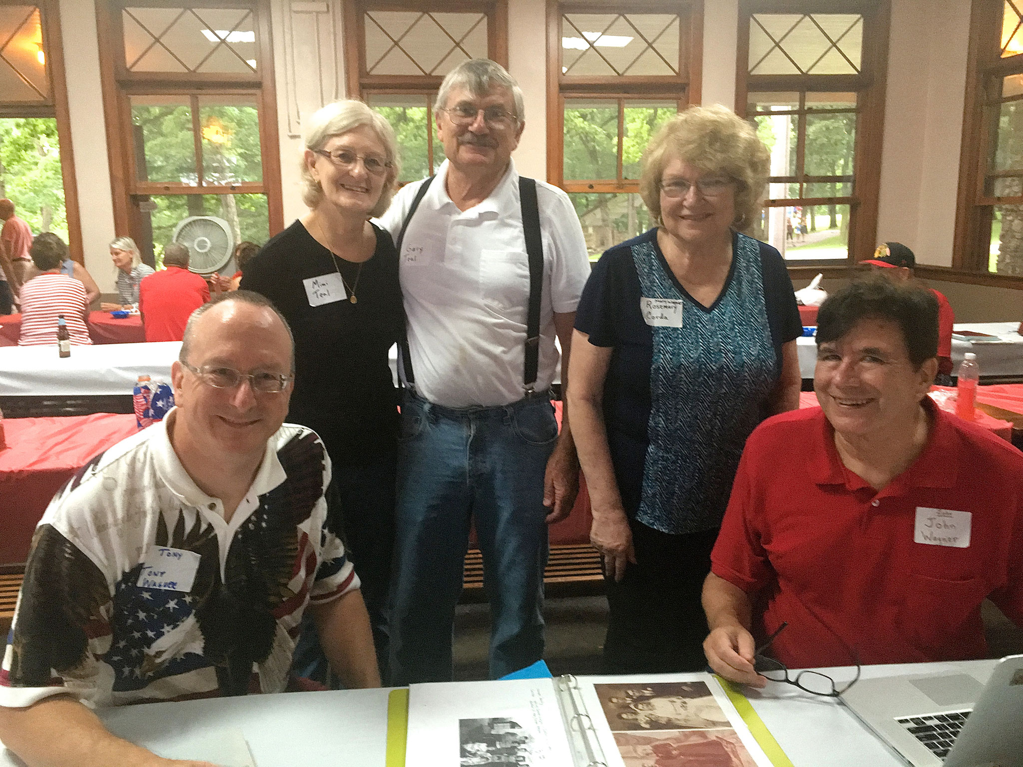 Tony Wagner, Marie 'Mimi' & Gary Teal, Rosemary Corda, and John Wagner.    Mimi, Gary, and Rosemary are grandchildren of August and Mary (Wagner) Krogman.