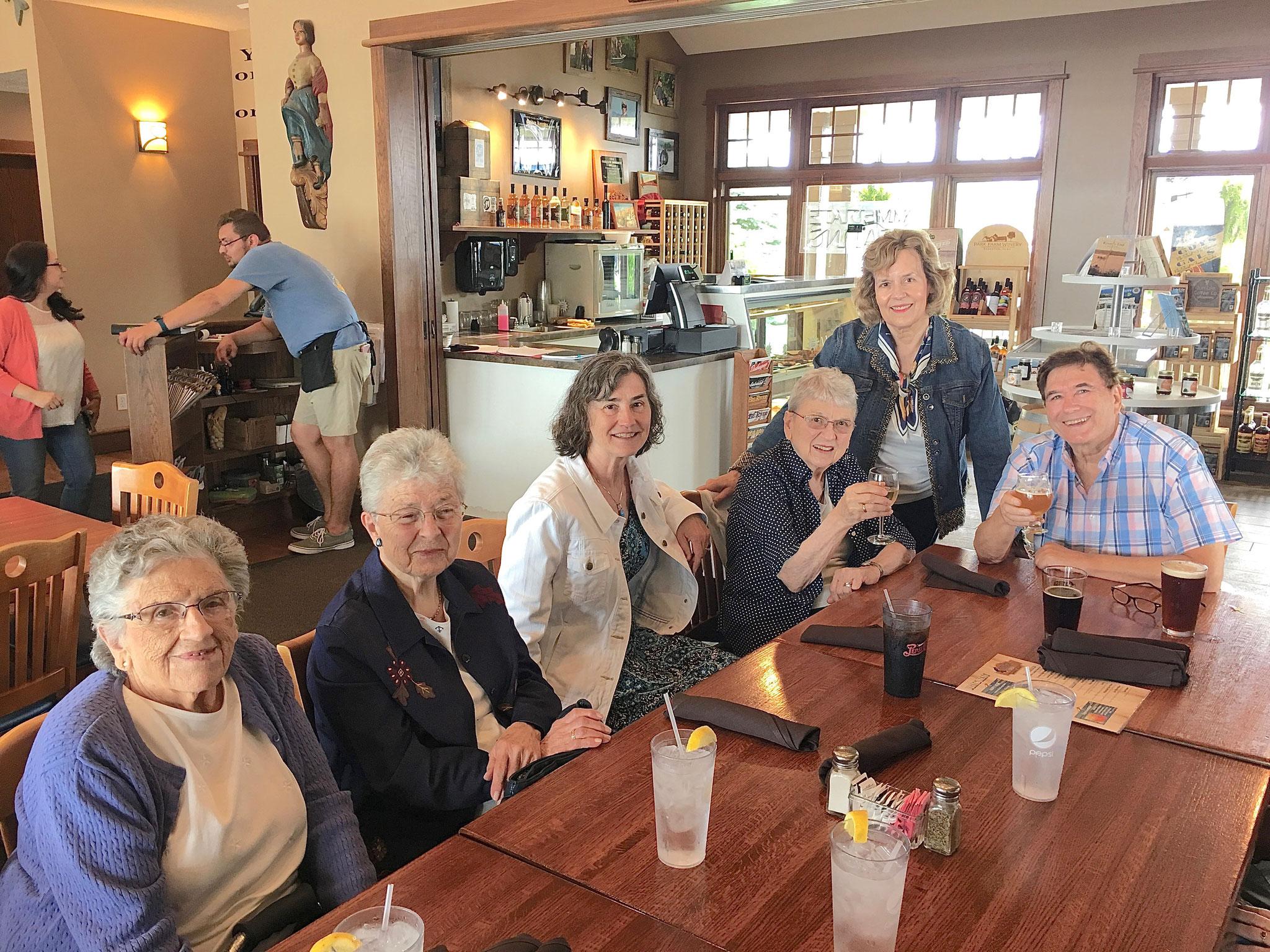 Dubuque, Iowa, 6-17-19  Mary Lou, Mary Ann, Ann, Helen, Lorraine, & John