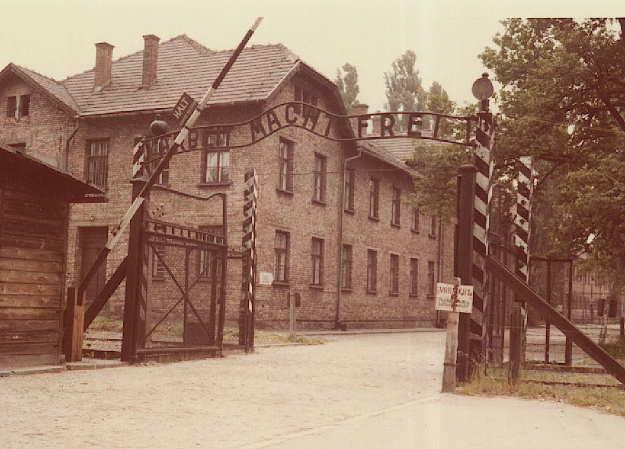 """Auschwitz, """"Arbeit Macht Frei."""" Memorial/museum."""