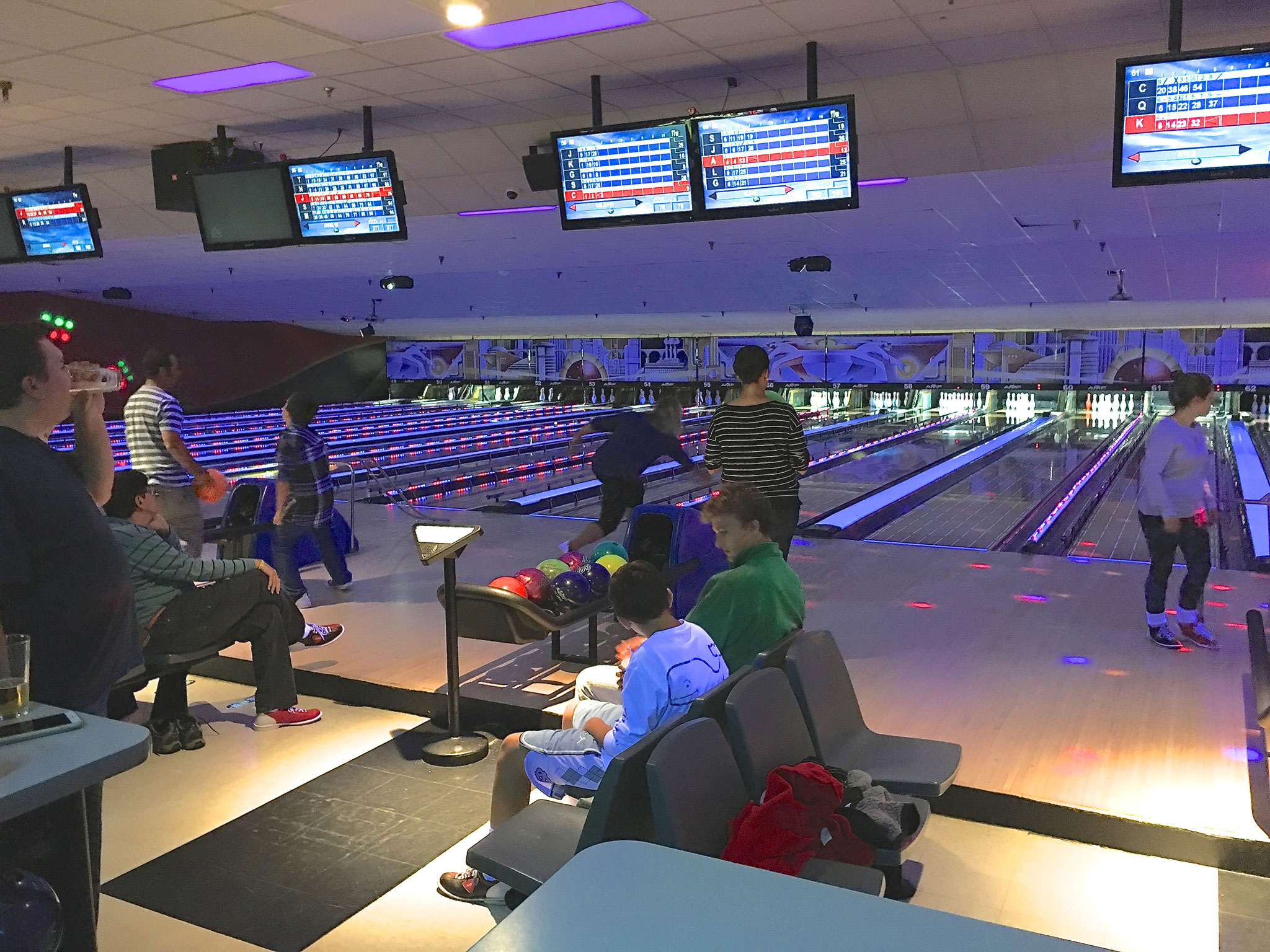 Celebrating Labor Day with a bowling match, Syracuse, NY