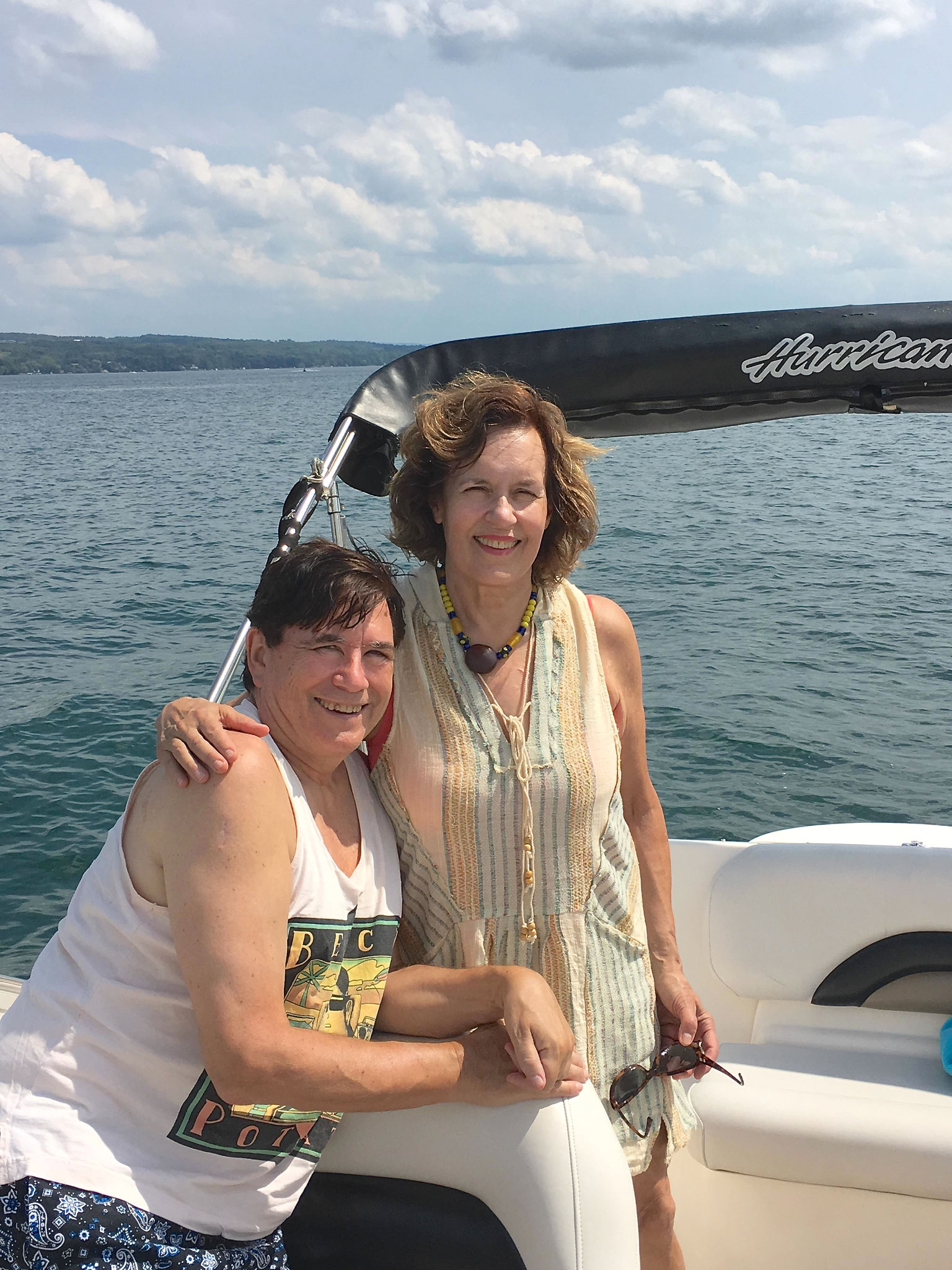 John & Lorraine at Skaneateles Lake, 8-17