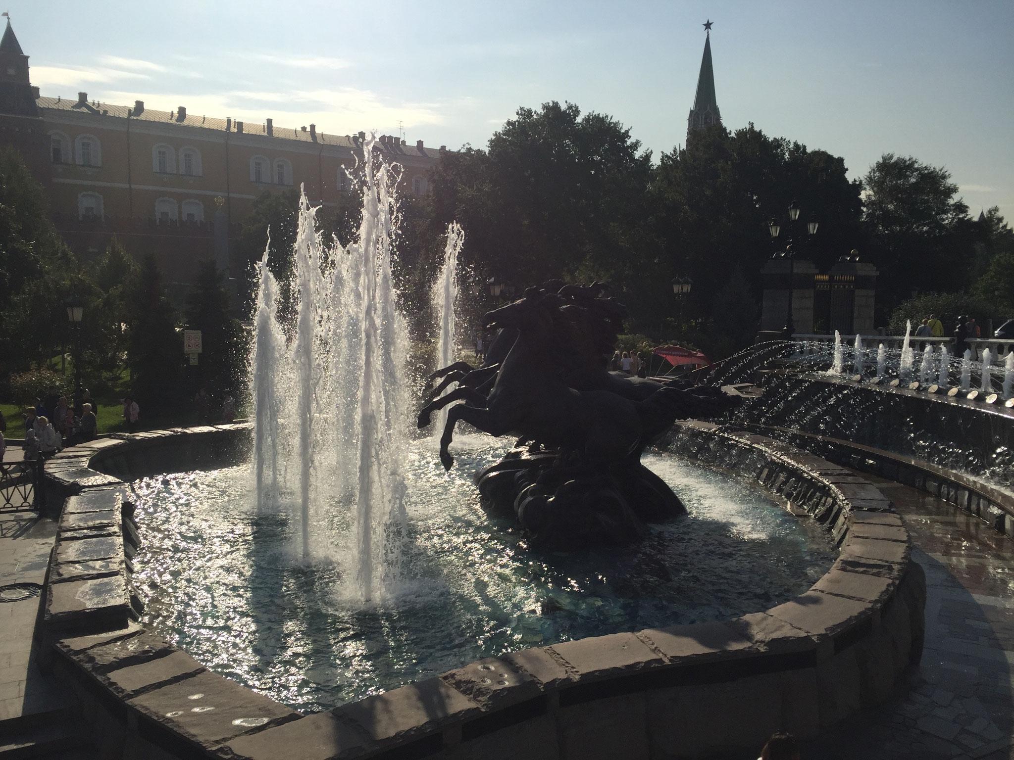 Fountain outside of the Kremlin