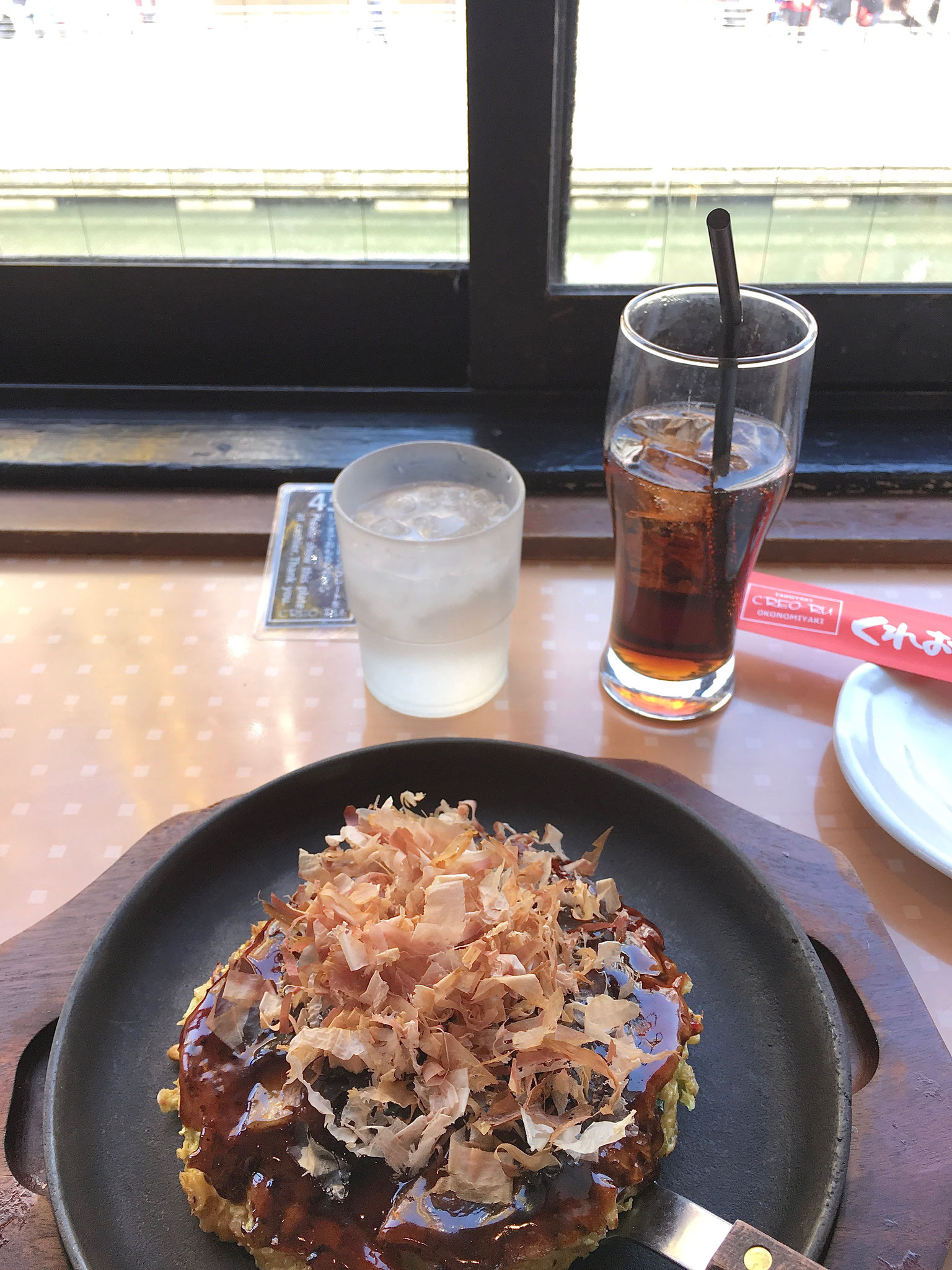 Okonomiyaki ( cabbage pancakes and pork)
