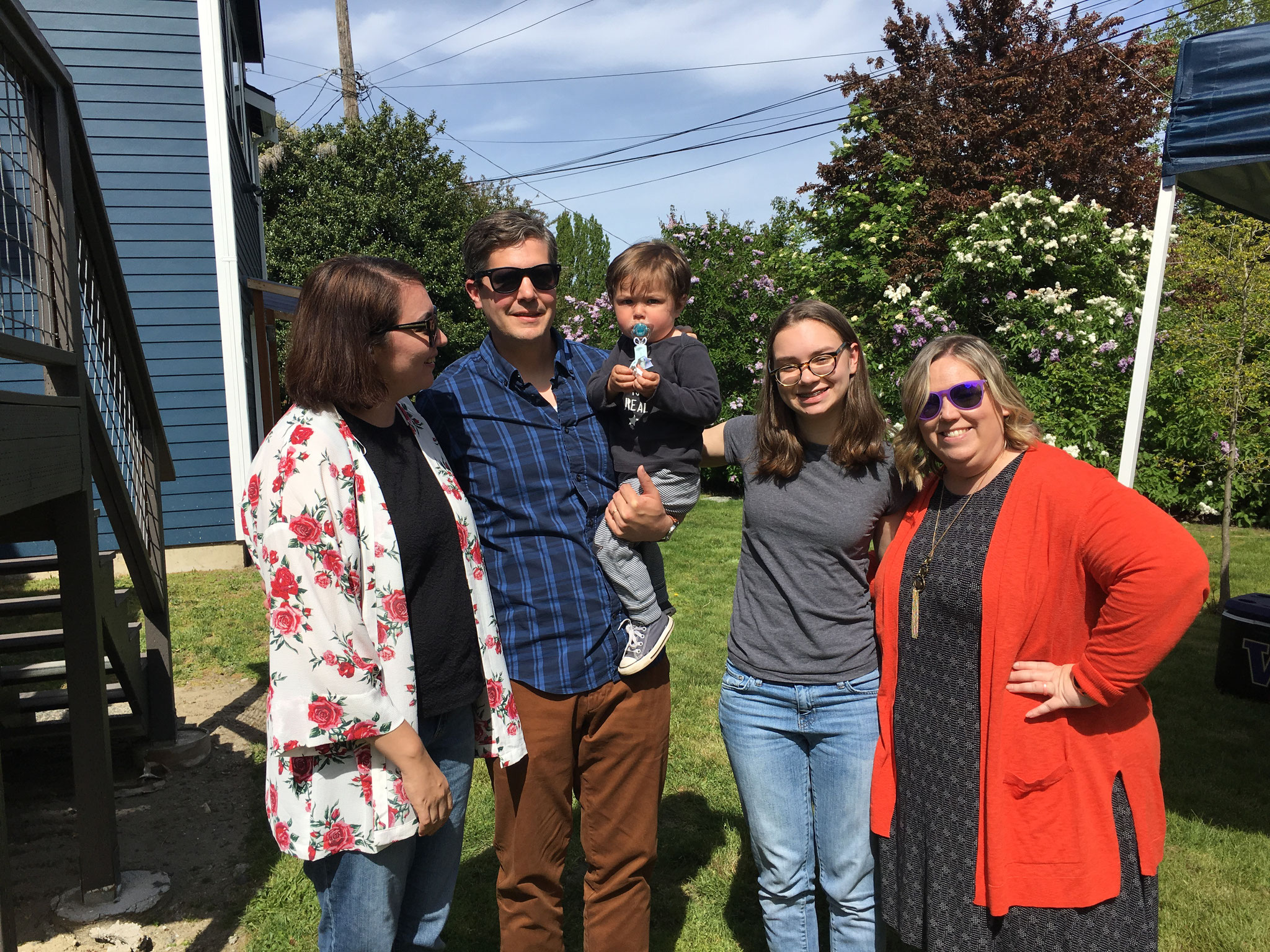 Angie,  Stephen  & Sam, Ines, Erin