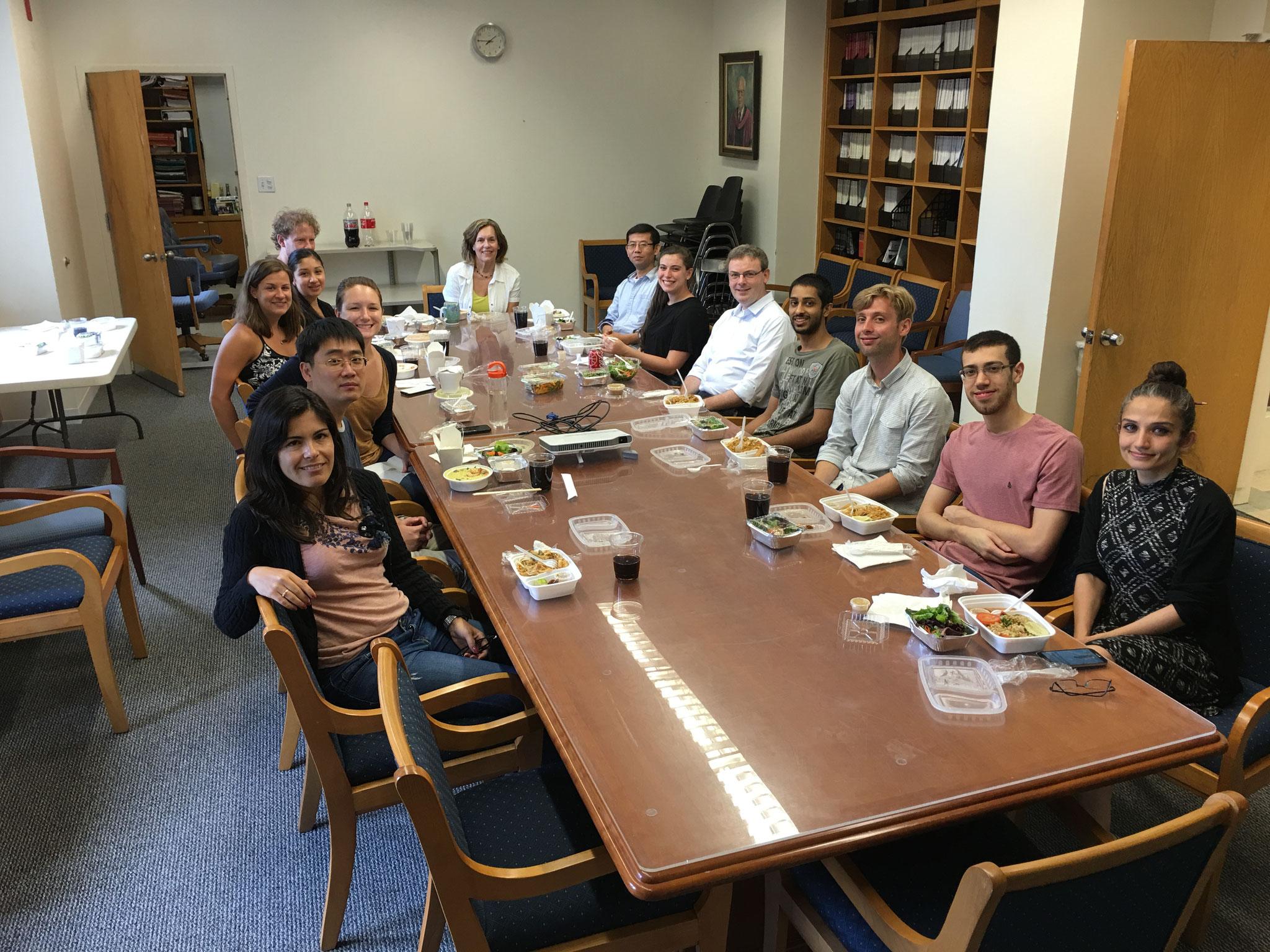 Nigel & Dalyia's luncheon with lab, 7-29-16