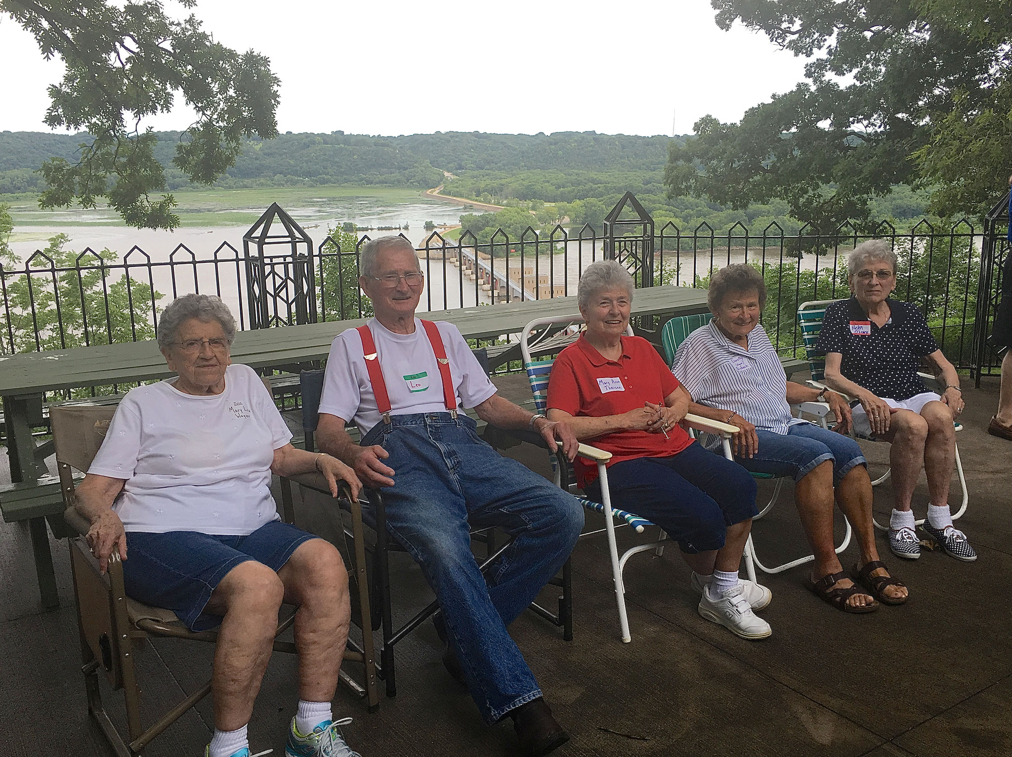 Mary Lou Wagner, Leo Wagner,  Mary Ann Theisen,  Dorothy Eisbach, and Helen O'Leary,