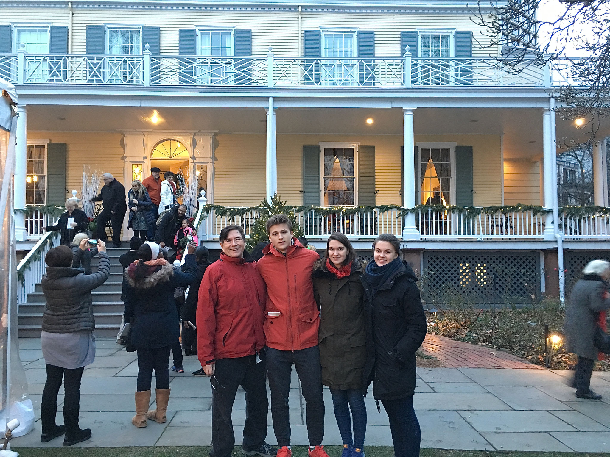 John, Jack, Ellie & Kate outside of Gracie Mansion, Dec. 21, 2016