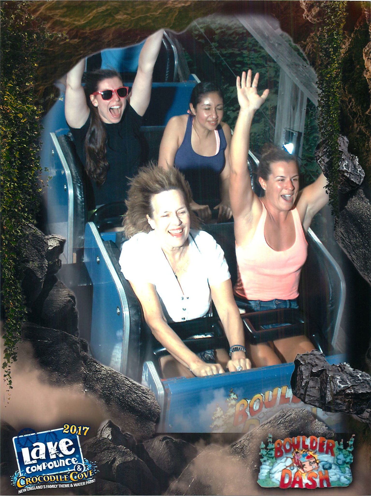 Lorraine on her lab trip to Lake Compounce, July 2017