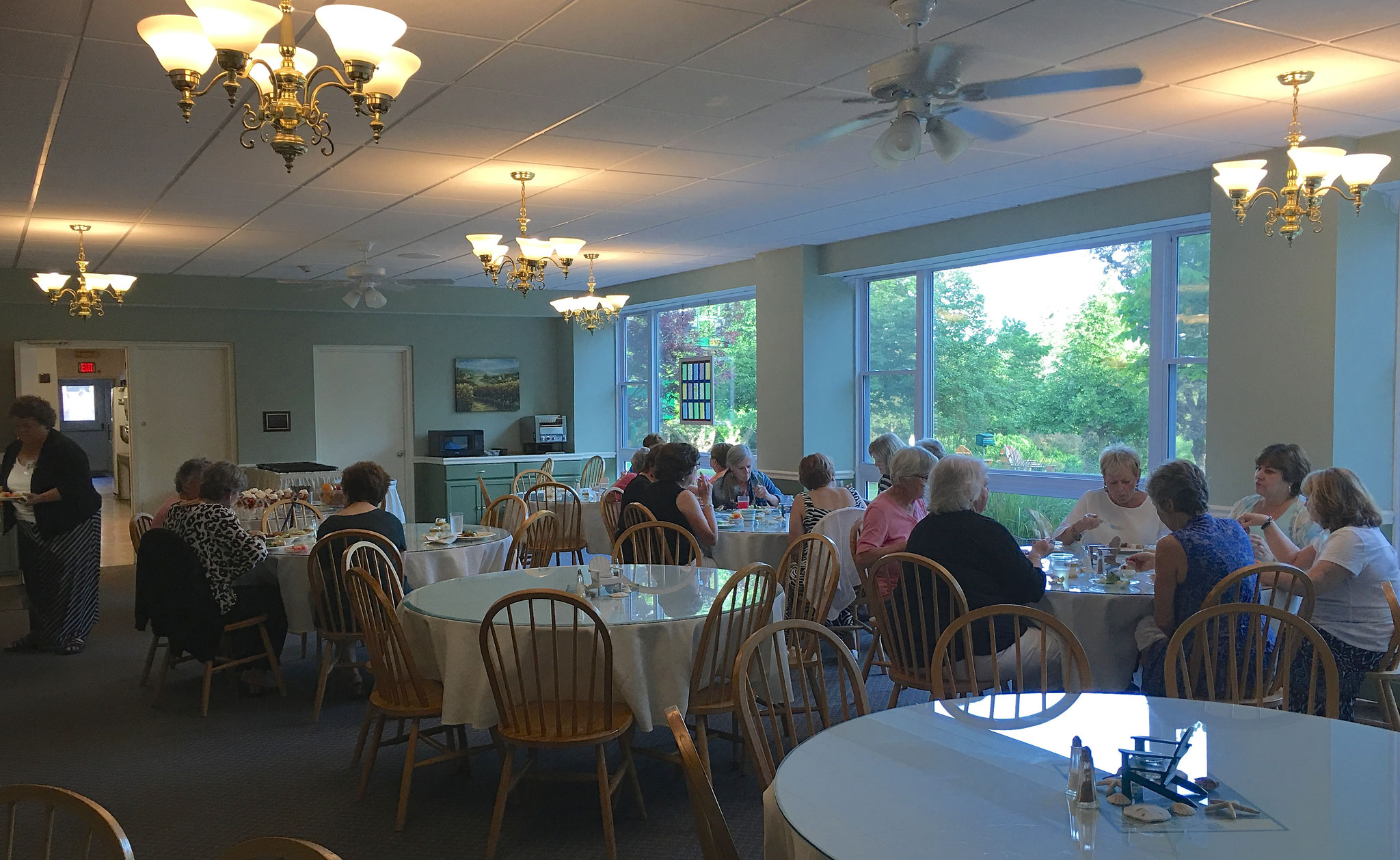 Dinner at Christ the King Retreat House, June, 2016