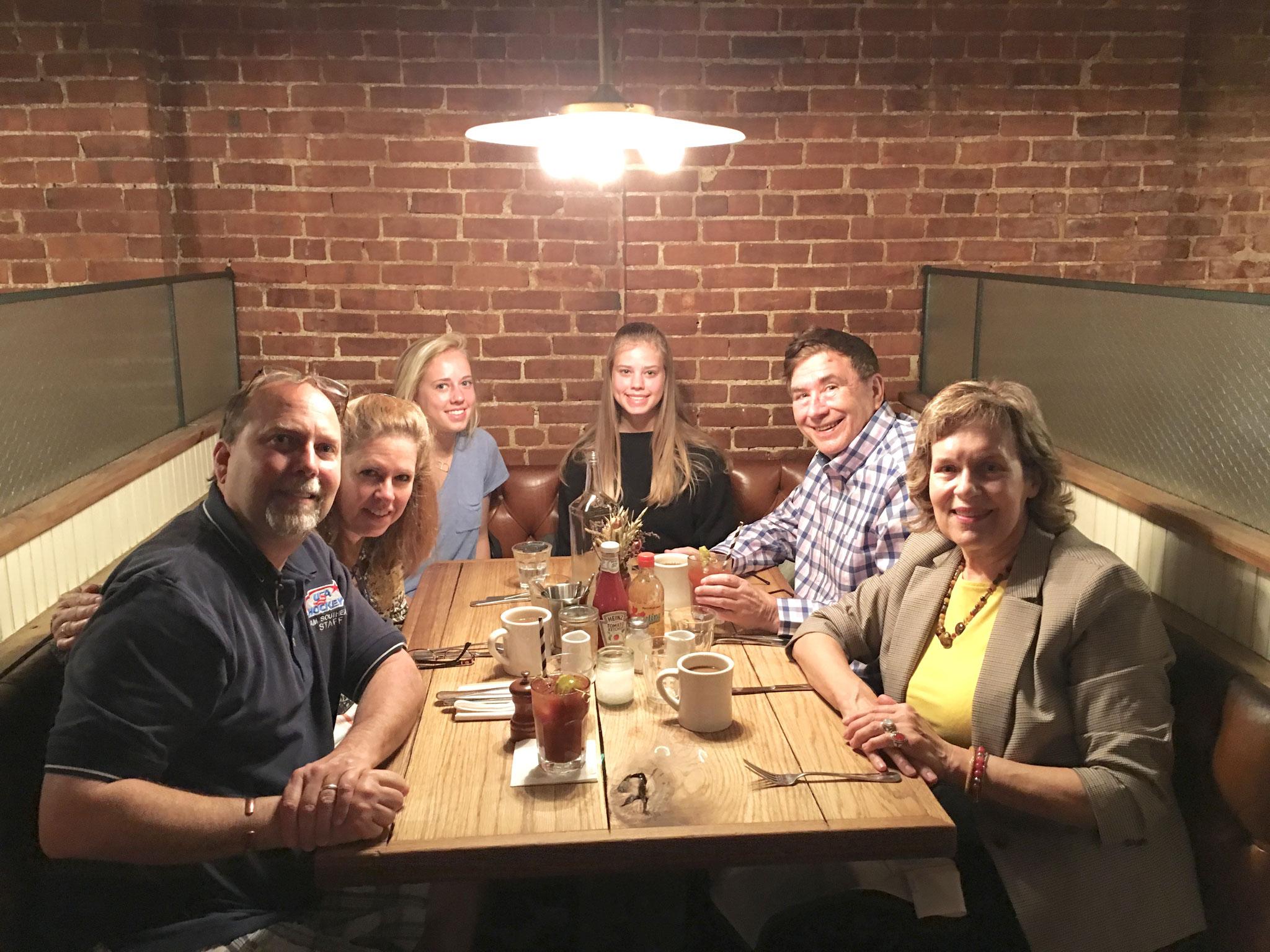 NYC, spring 2019 Jerry Sroka, Lisa, Brooke, Brianna, John & Lorraine