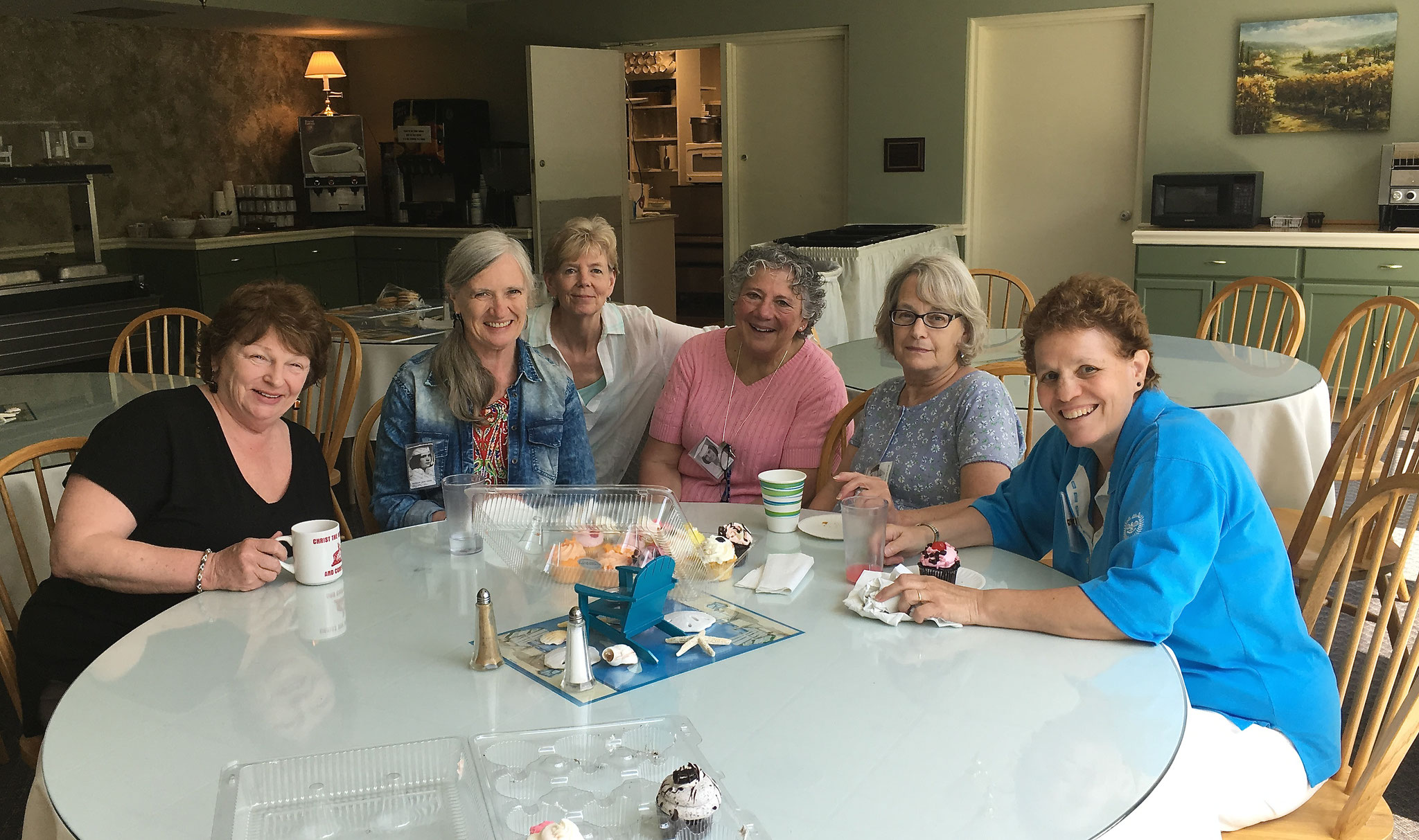 Theresa Jennings, Patty Coon, Marie Fletcher, Sue Lamanna, Barb Slater, Jo LaNasa