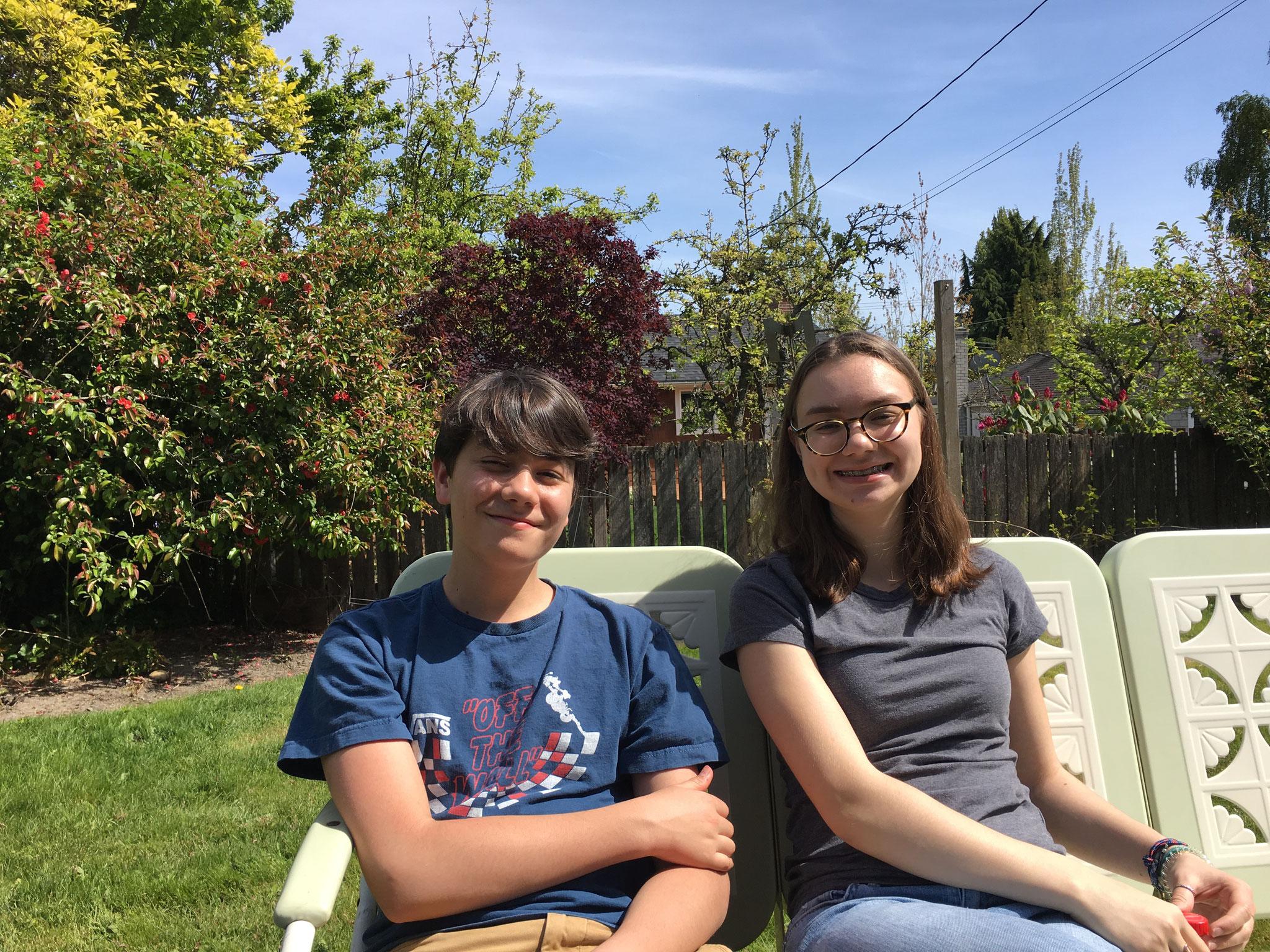 Liam & Ines, Max's children