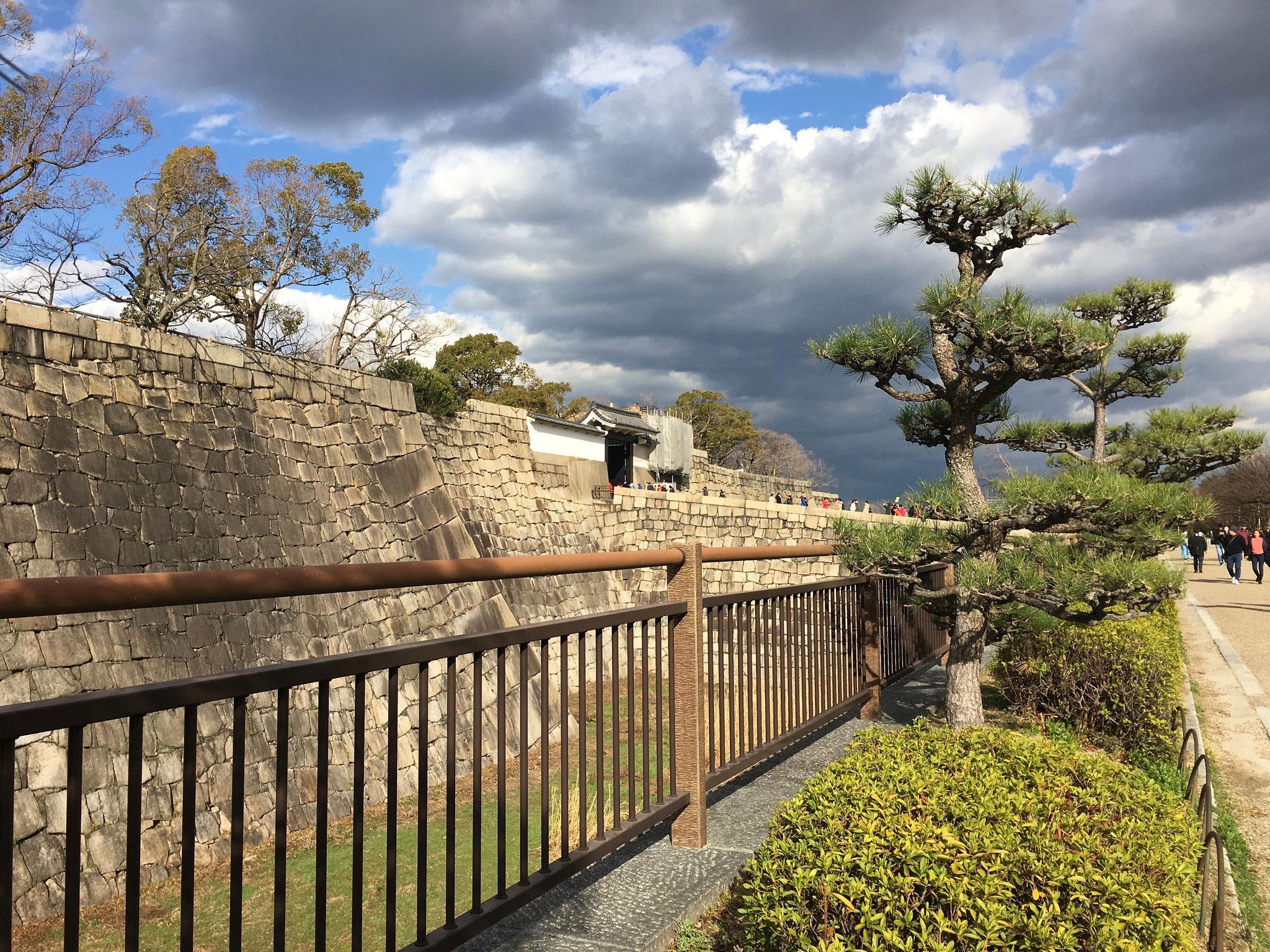 Osaka Castle entrance.