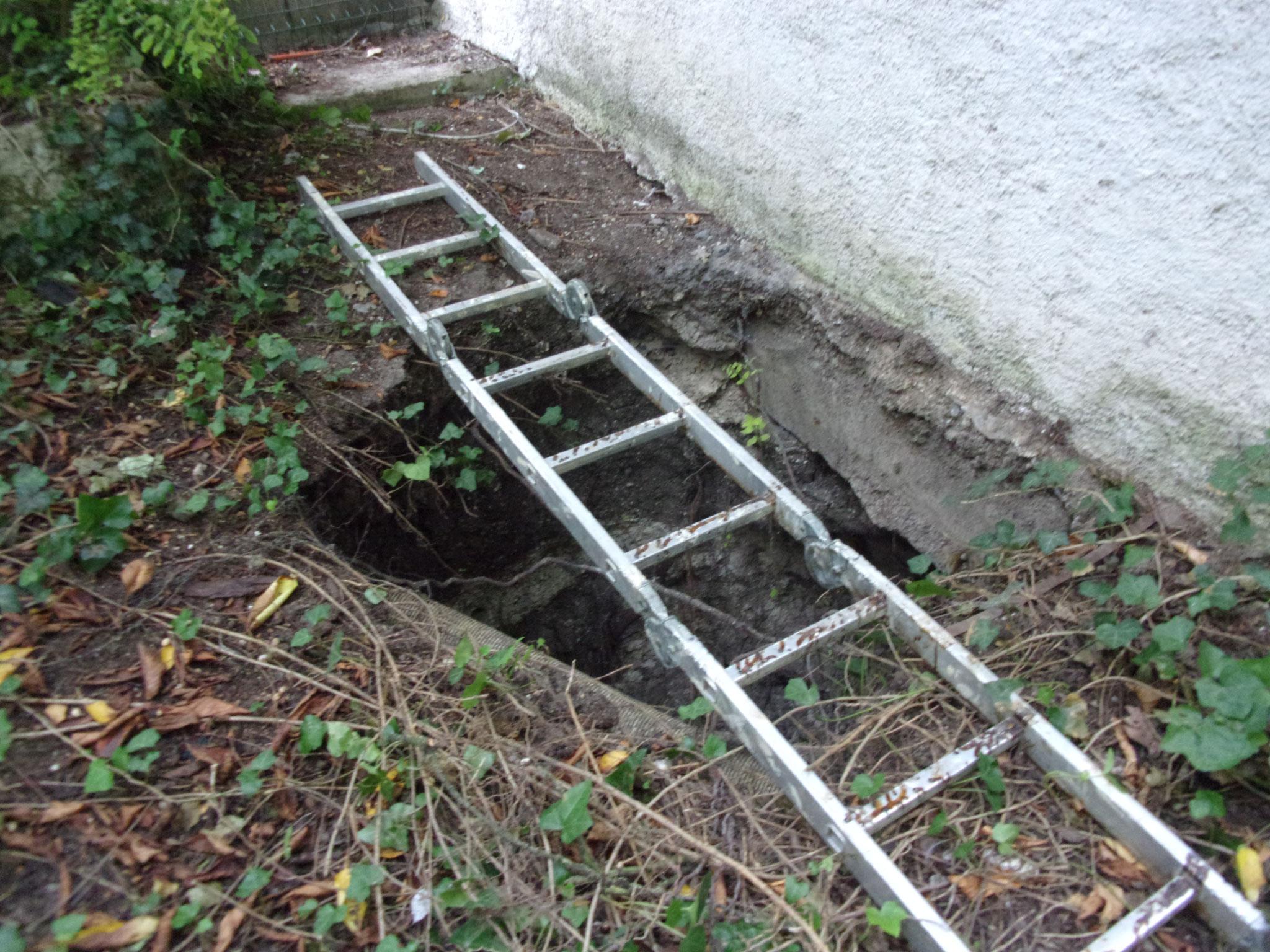 Inondation : Analyse cavité pour mise en sécurité de l'habitation