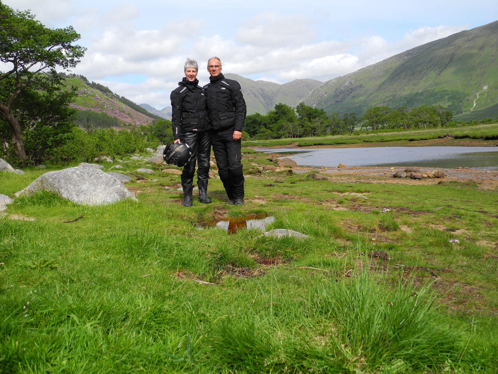 und verabschieden uns von Schottland mit einer Fahrt ins Glencoe-Gebiet