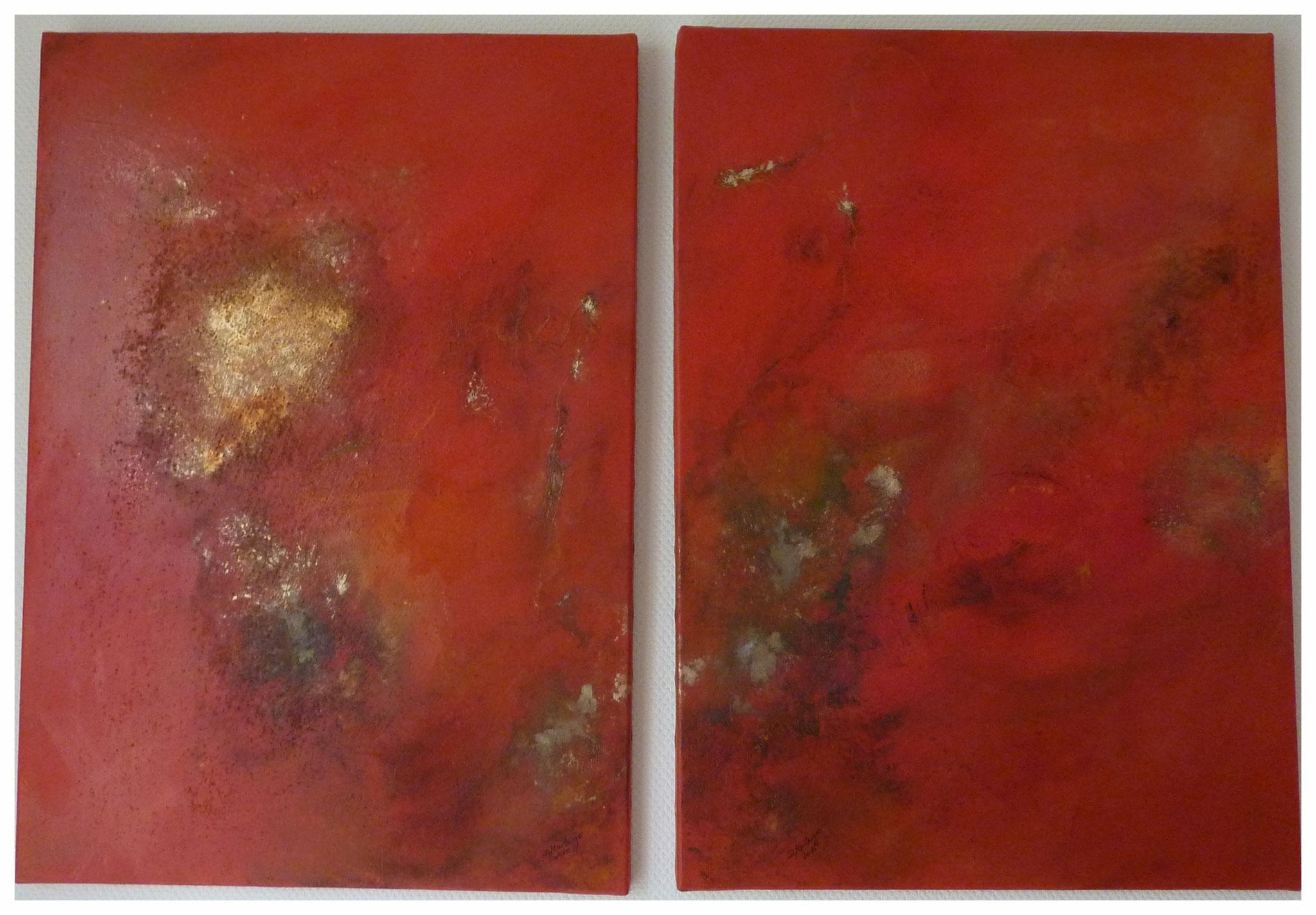 Orange-Gold , je 50 x 70 / 2015